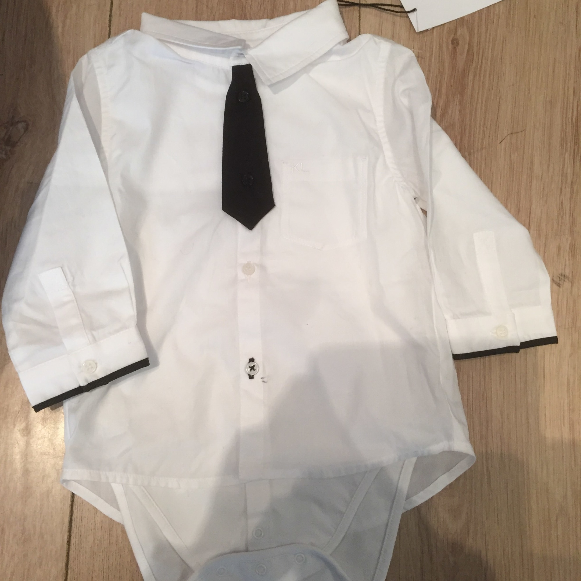 Chemise KARL LAGERFELD coton blanc 12 mois