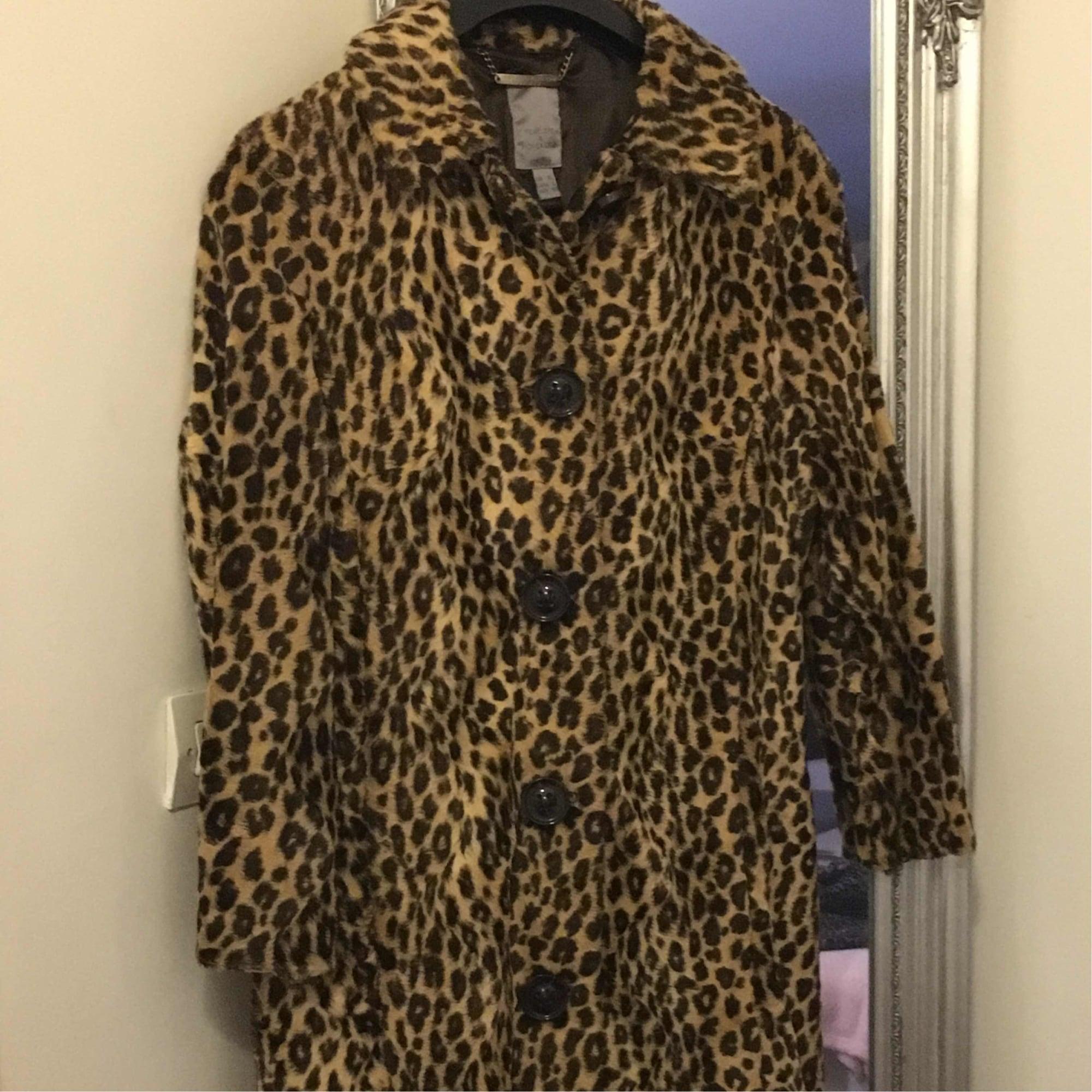 e779128b263c Manteau en fourrure MANGO Leopard