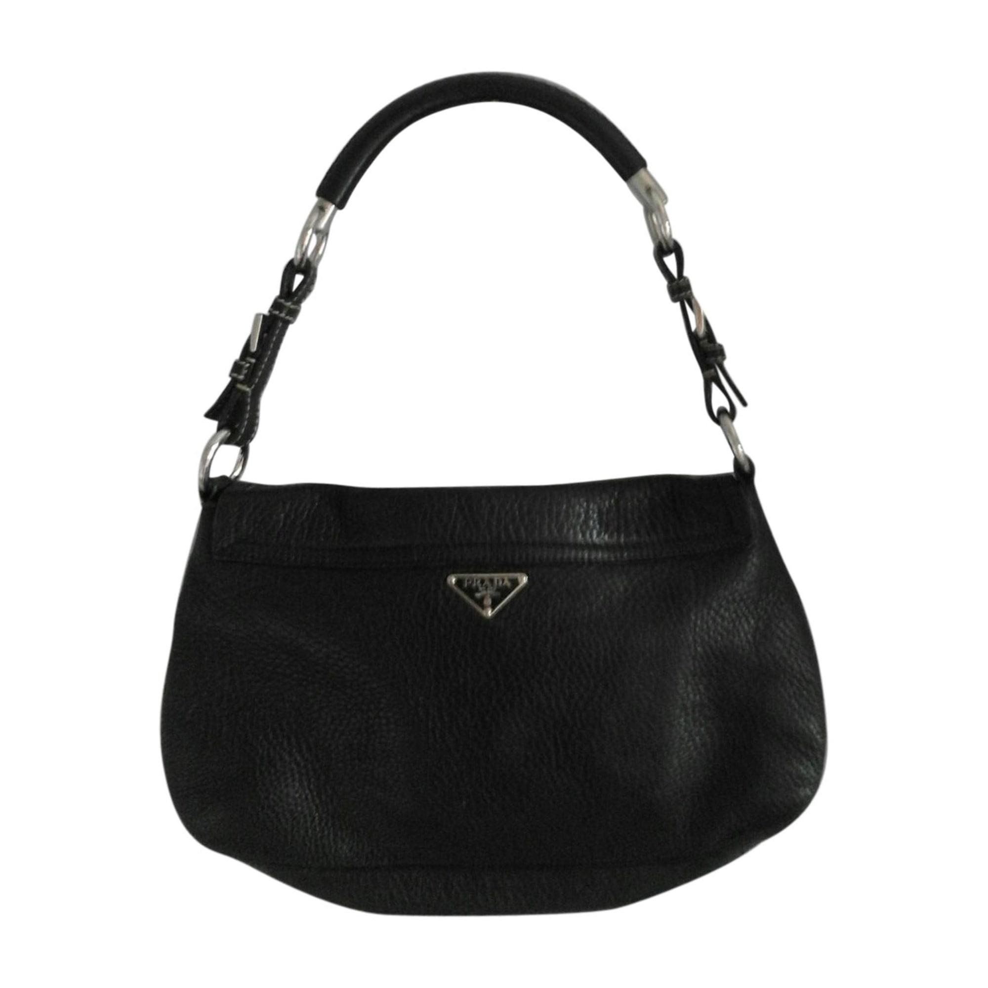 Leather Shoulder Bag PRADA black vendu par Elly-fashion ...