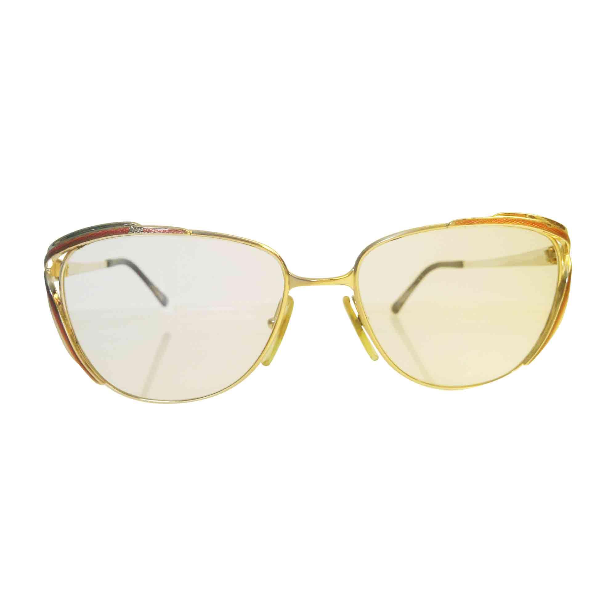 Monture de lunettes DIOR doré et rouge - 5372956 272d826ea593