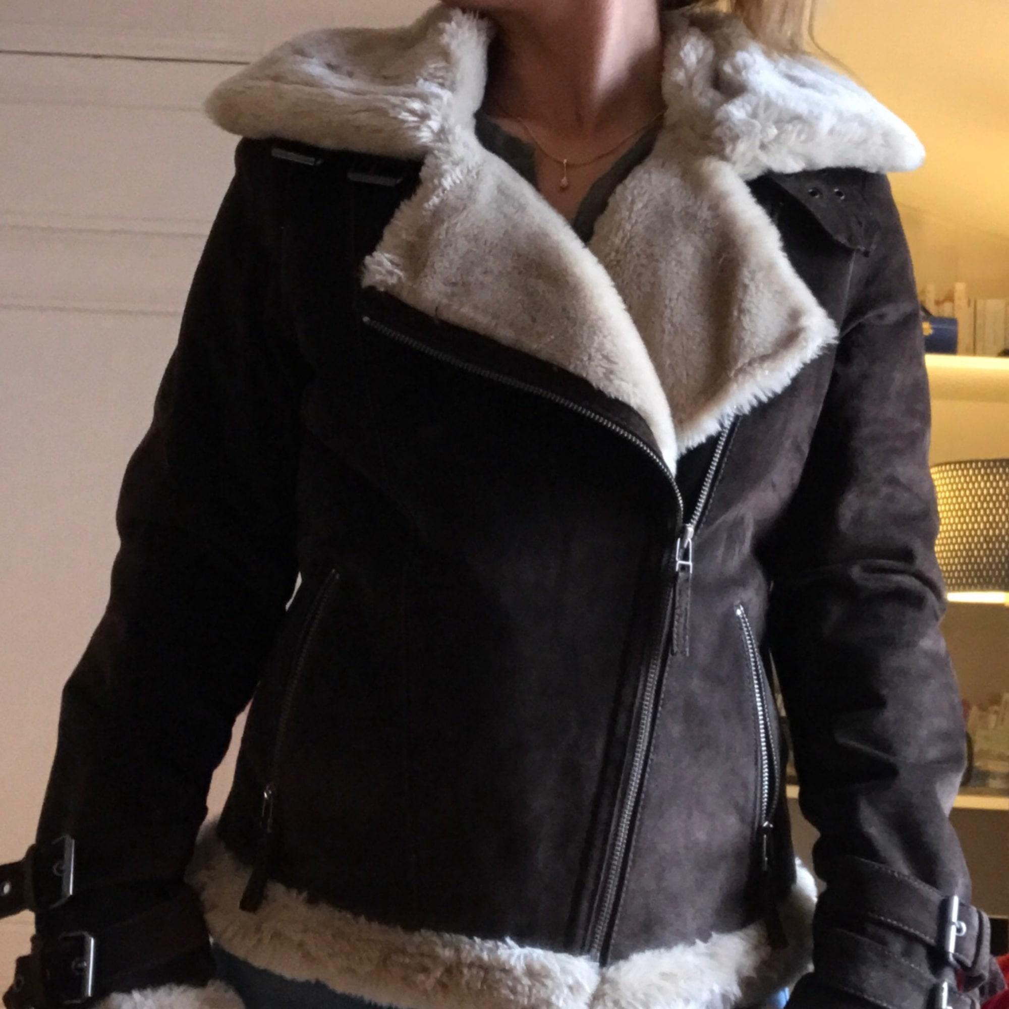Veste en cuir femme etam