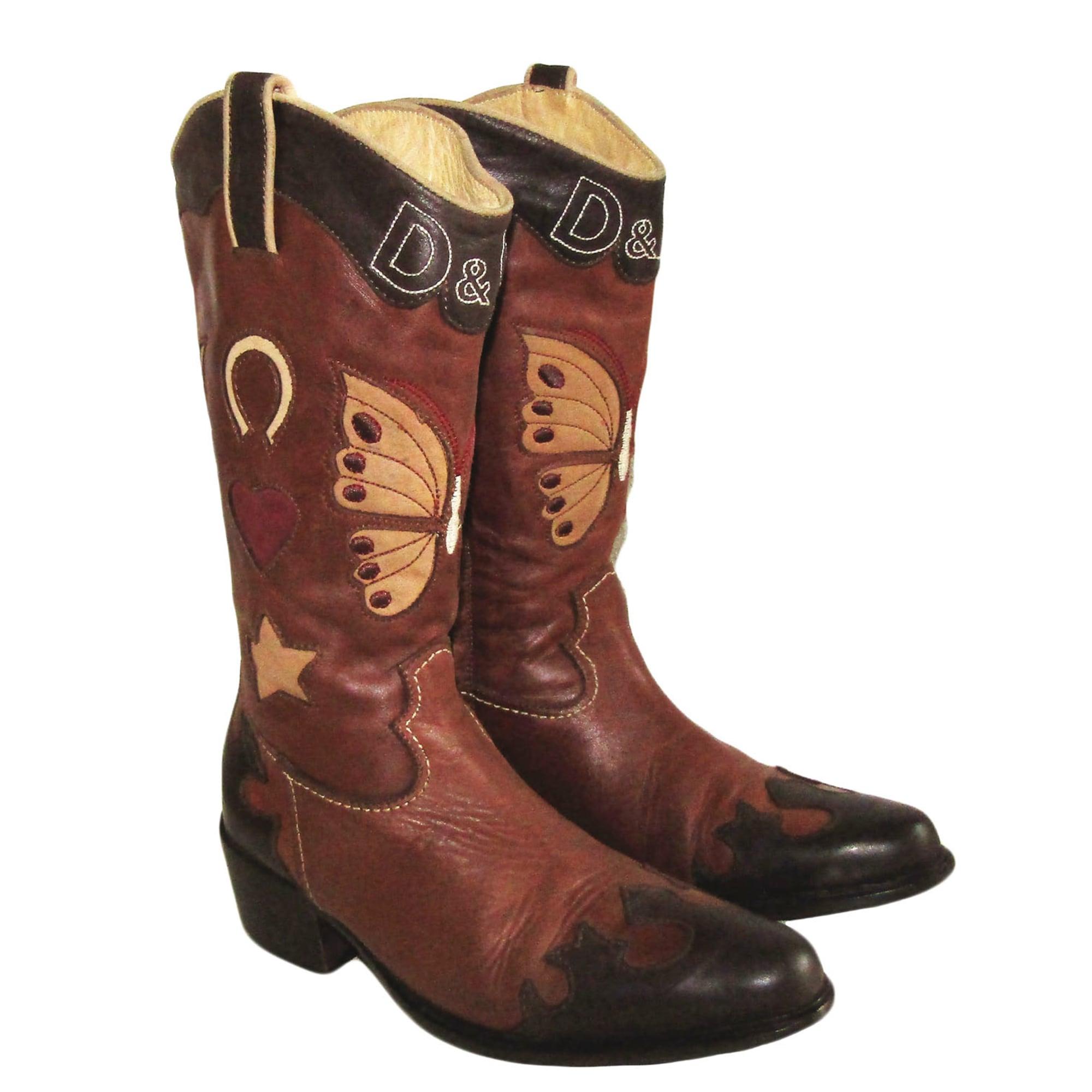 Santiags, bottes cowboy DOLCE \u0026 GABBANA Marron