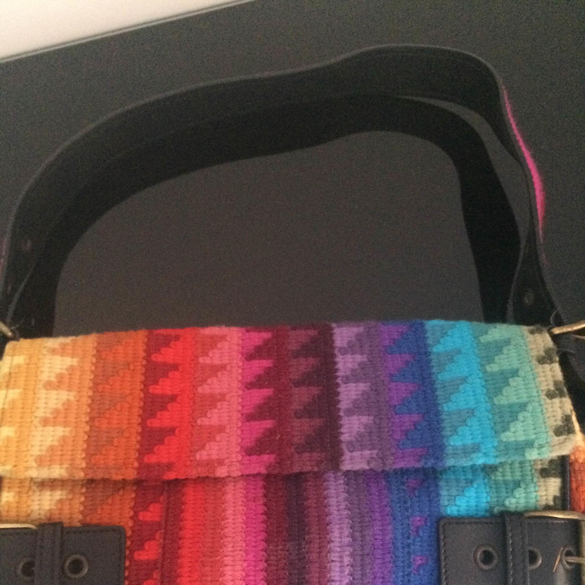 Sac pochette en tissu JOHN GALLIANO coton multicolore