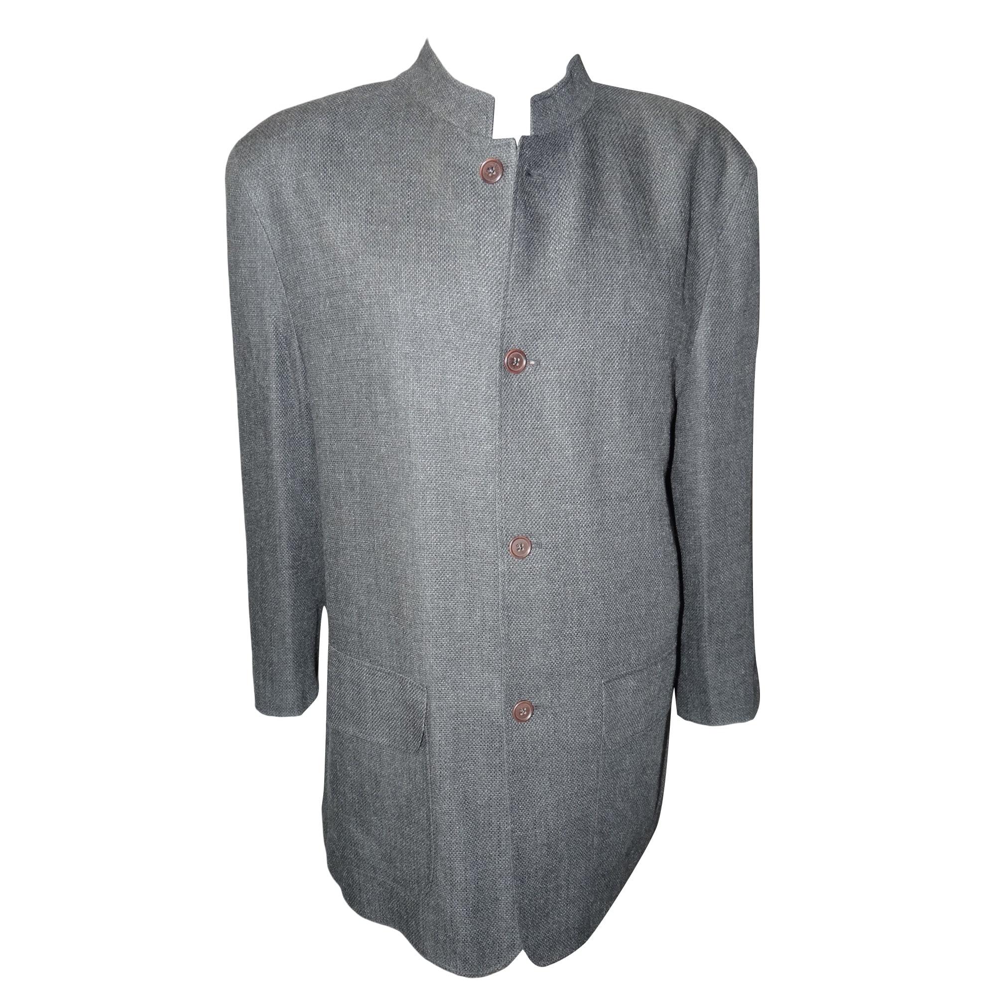 Jacket adolfo dominguez 58 xl gray vendu par louis for Adolfo dominguez womens coats
