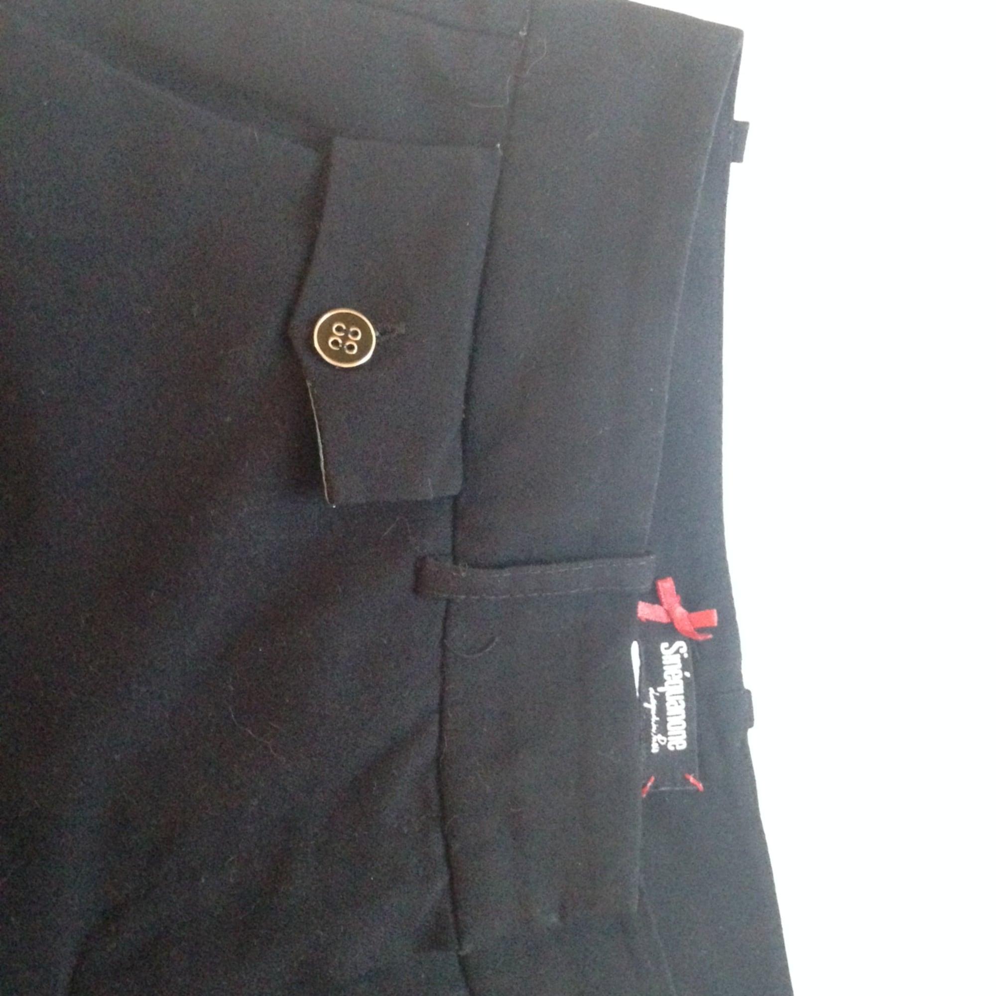 Pantalon évasé SINÉQUANONE Noir