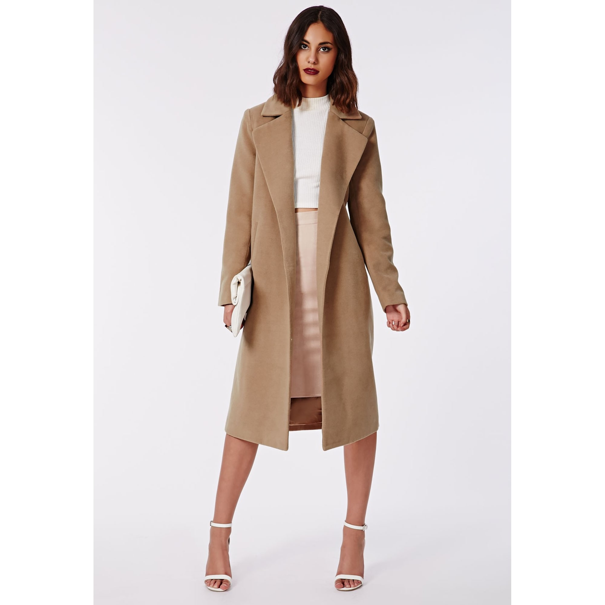 Missguided Camel Missguided Camel Missguided Manteau Manteau Camel Manteau Pk0nwO