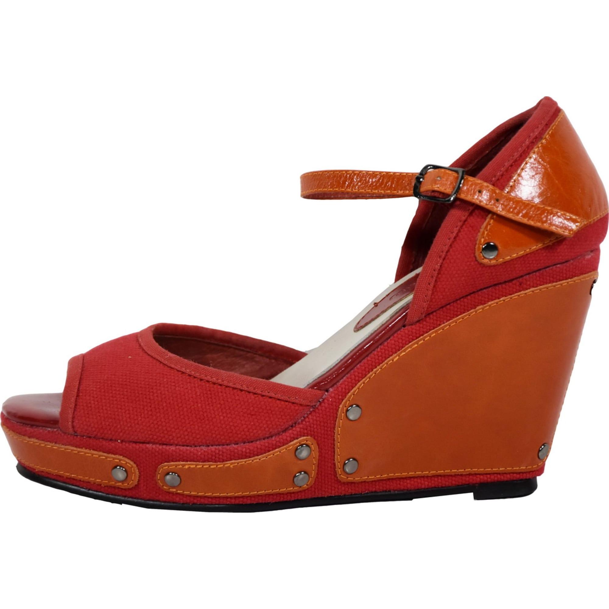 Rouge Yellow 5512339 36 Mellow Compensées Jsr354aclq Sandales D9HEIW2
