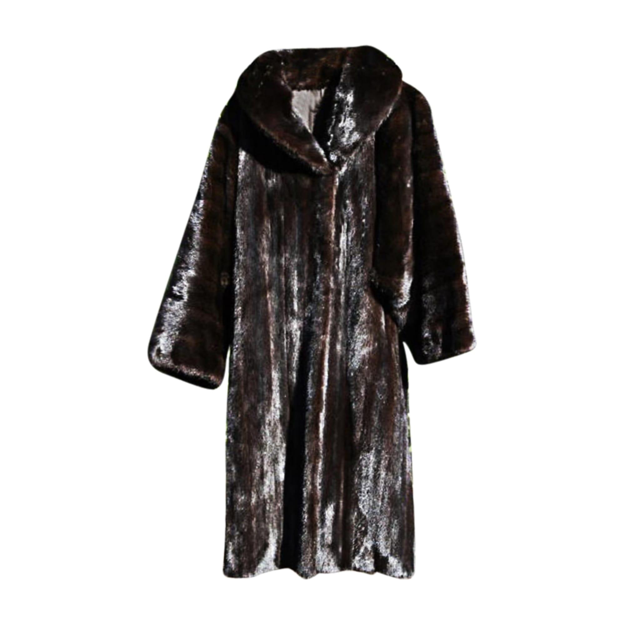 5645d1c5aca97 Cappotto in pelliccia YVES SAINT LAURENT Altro dark (marron noir ...