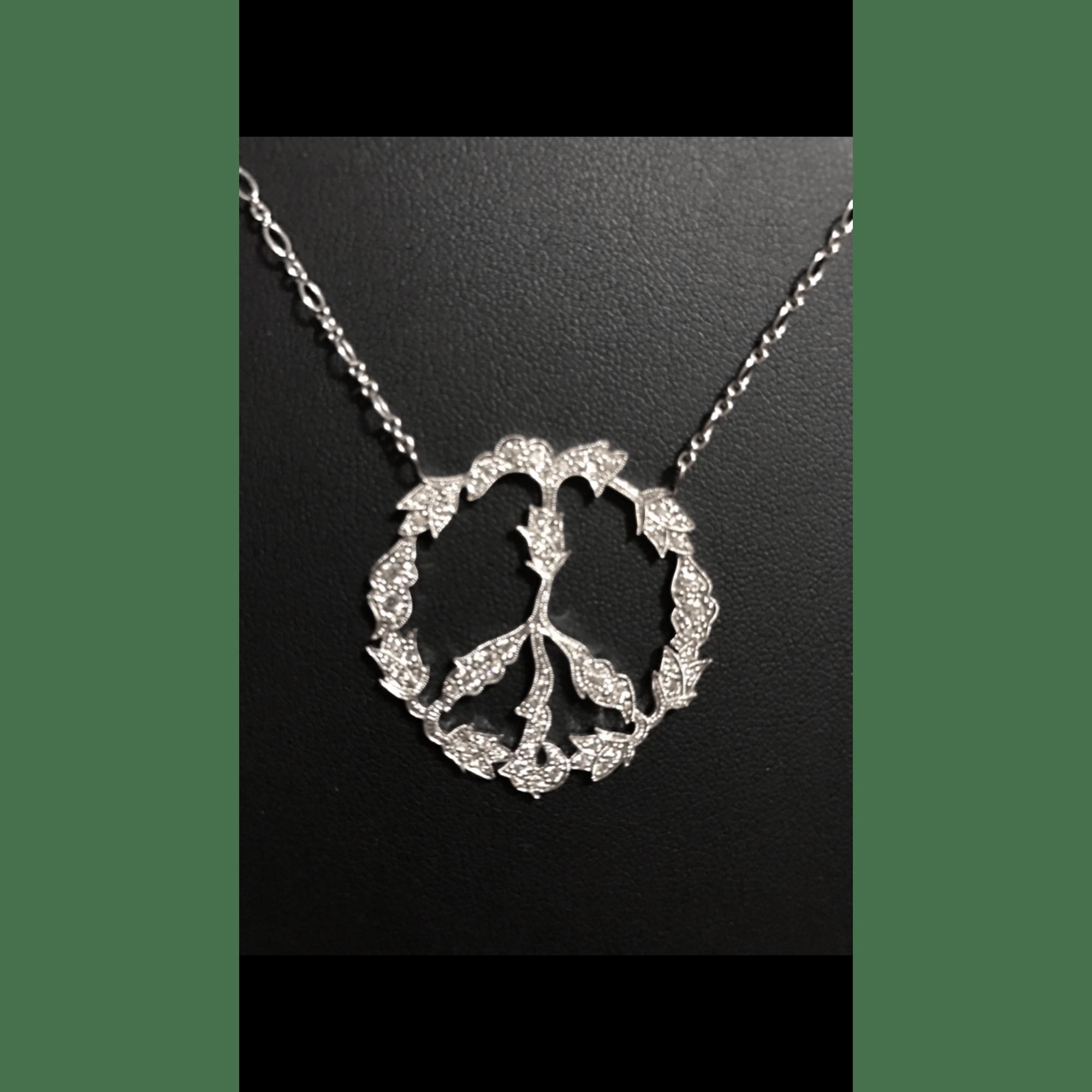 Pendentif, collier pendentif STONE or blanc argent