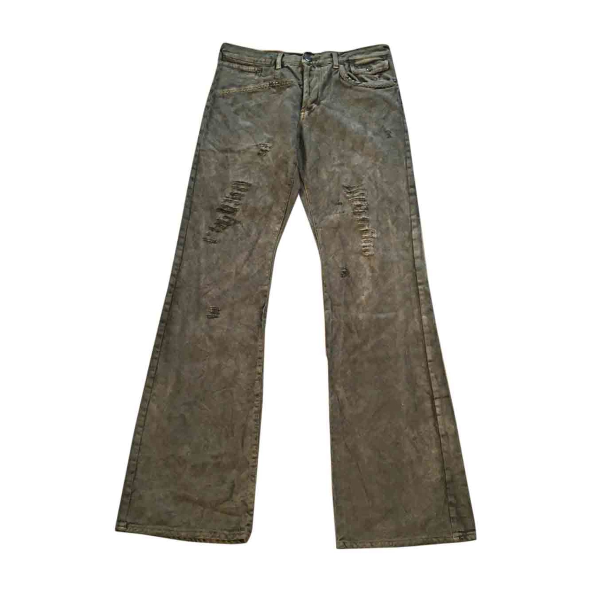 Jeans évasé, boot-cut JUST CAVALLI Kaki