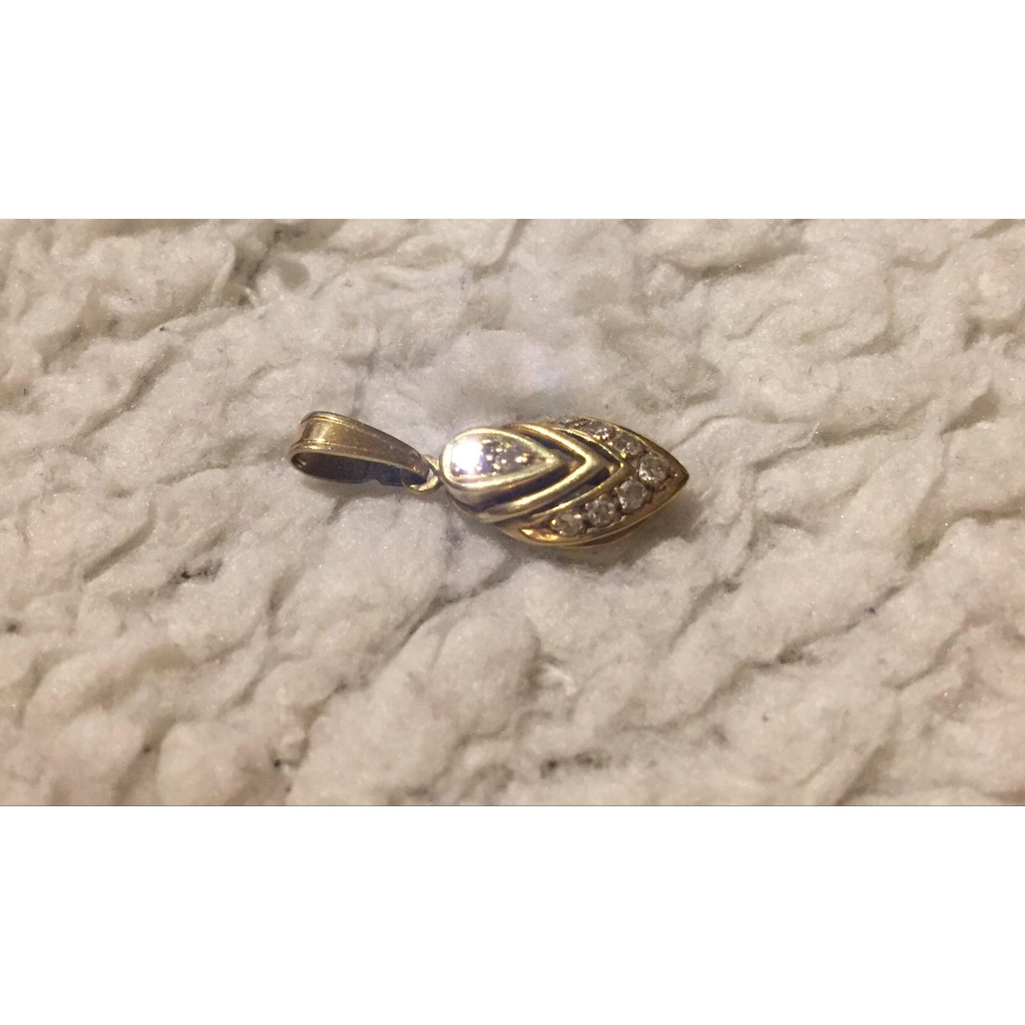 Pendentif, collier pendentif DIAMANTA or jaune doré