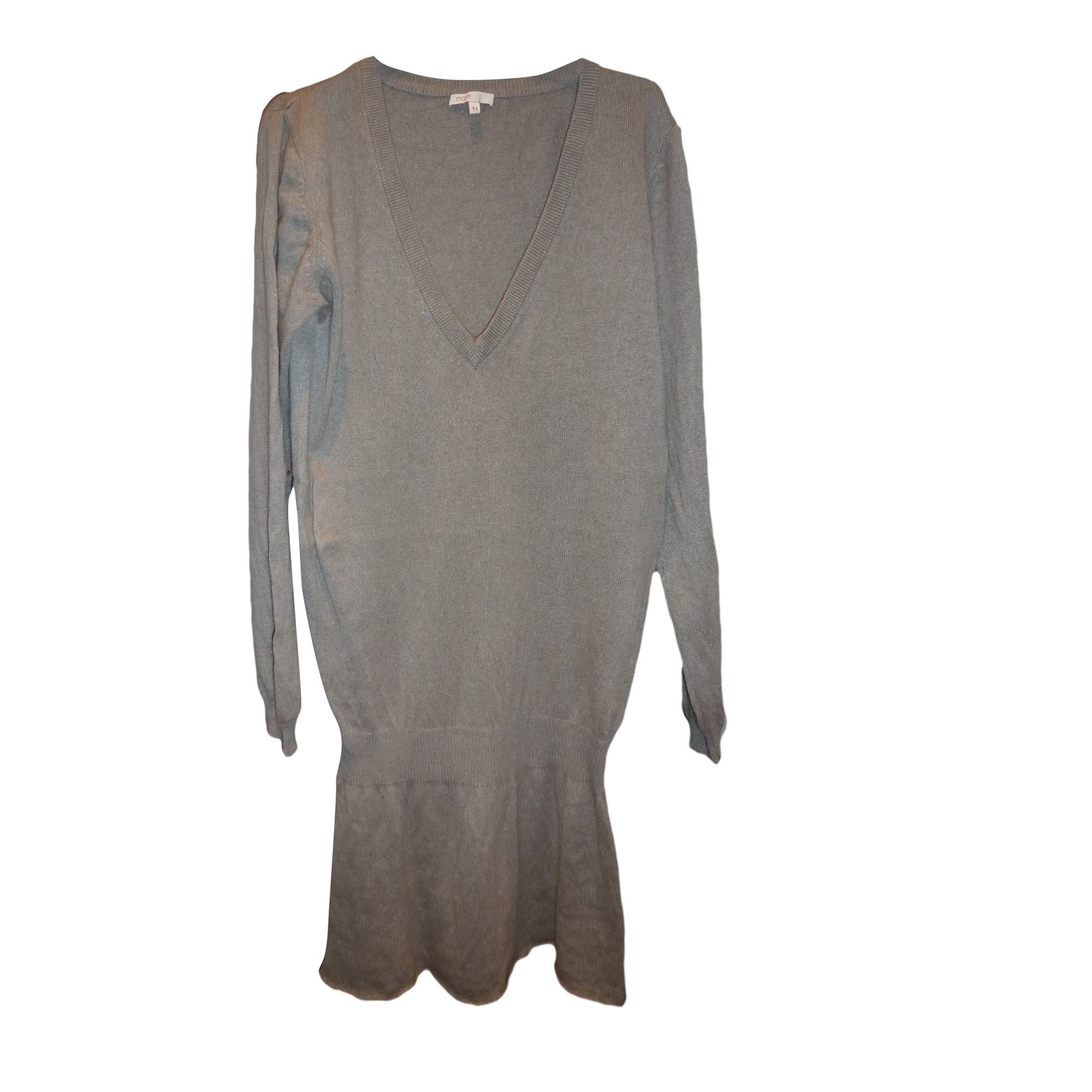 Pull tunique MAJE Gris, anthracite