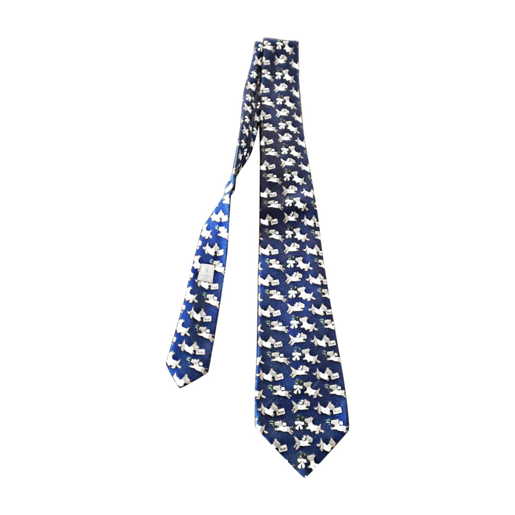Cravate CHANEL Bleu, bleu marine, bleu turquoise