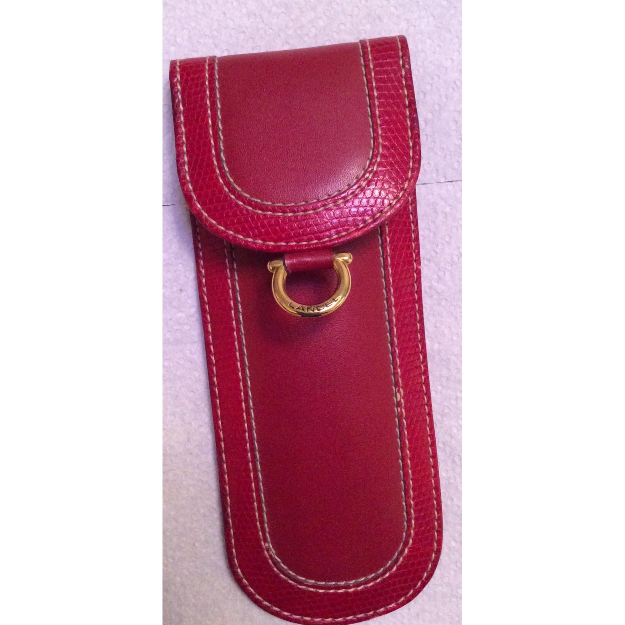 Porte-cigarette LANCEL cuir rouge