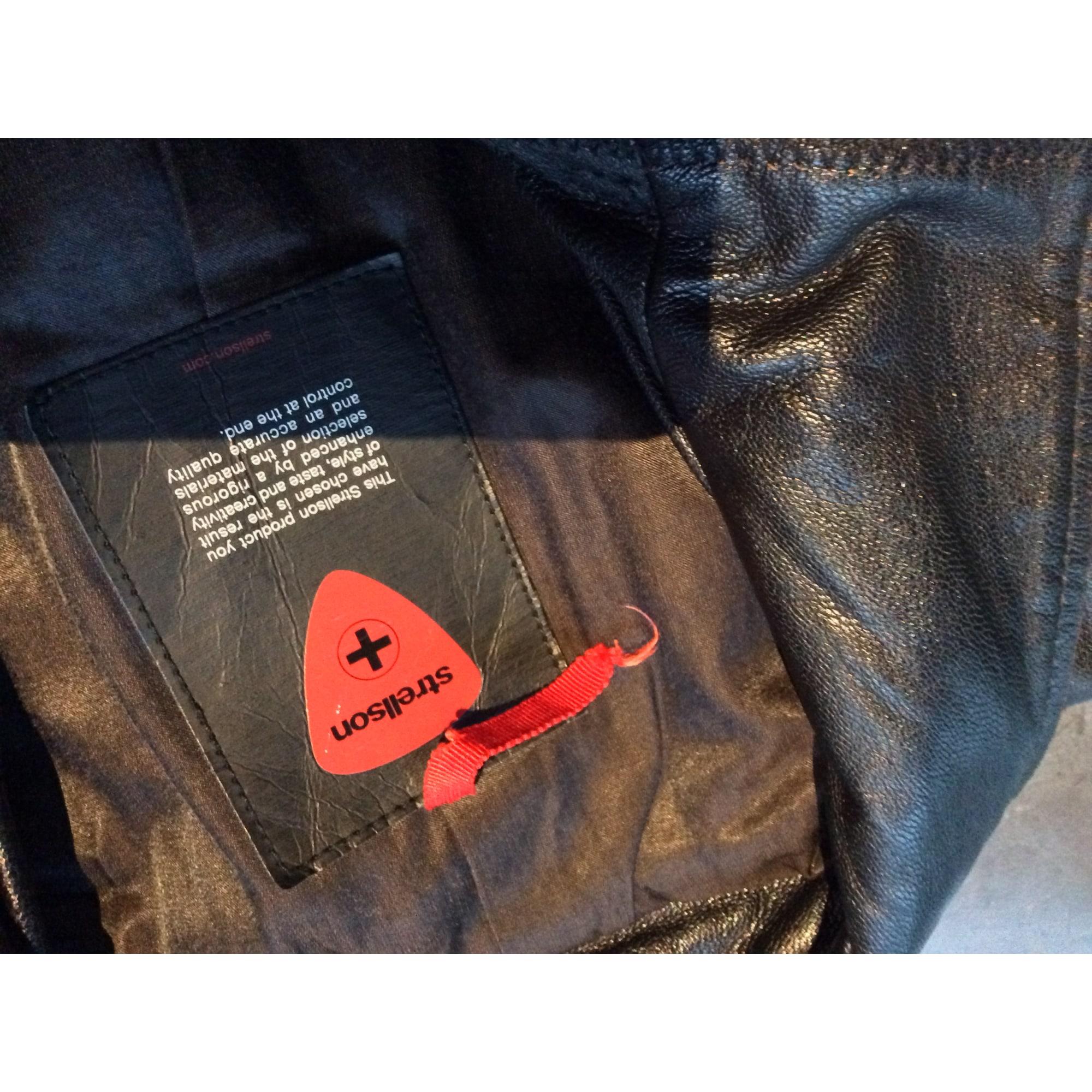 Blouson en cuir STRELLSON 50 (M) noir vendu par Val 8888 - 5609736 42248c0e0acc