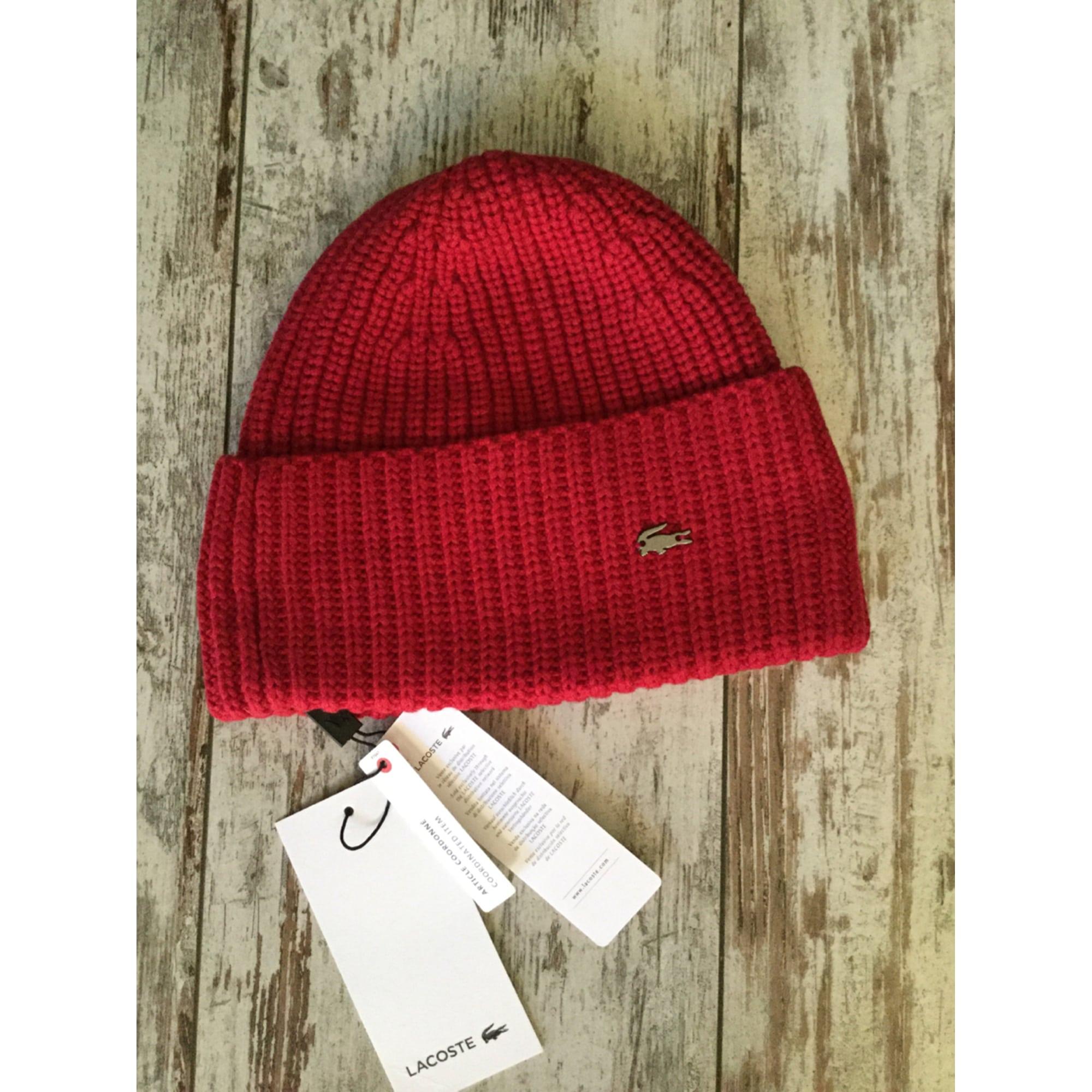 0dc7b3beb1 Bonnet LACOSTE Taille unique rouge vendu par Fredshaved - 5611637