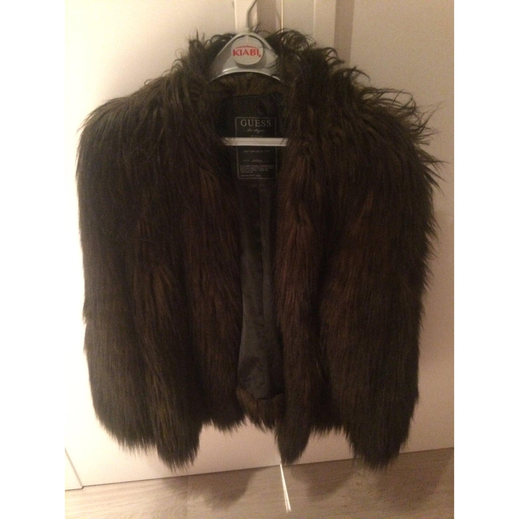 Blouson, veste en fourrure GUESS 40 (L, T3) marron - 5614257 7ce6e44f25b