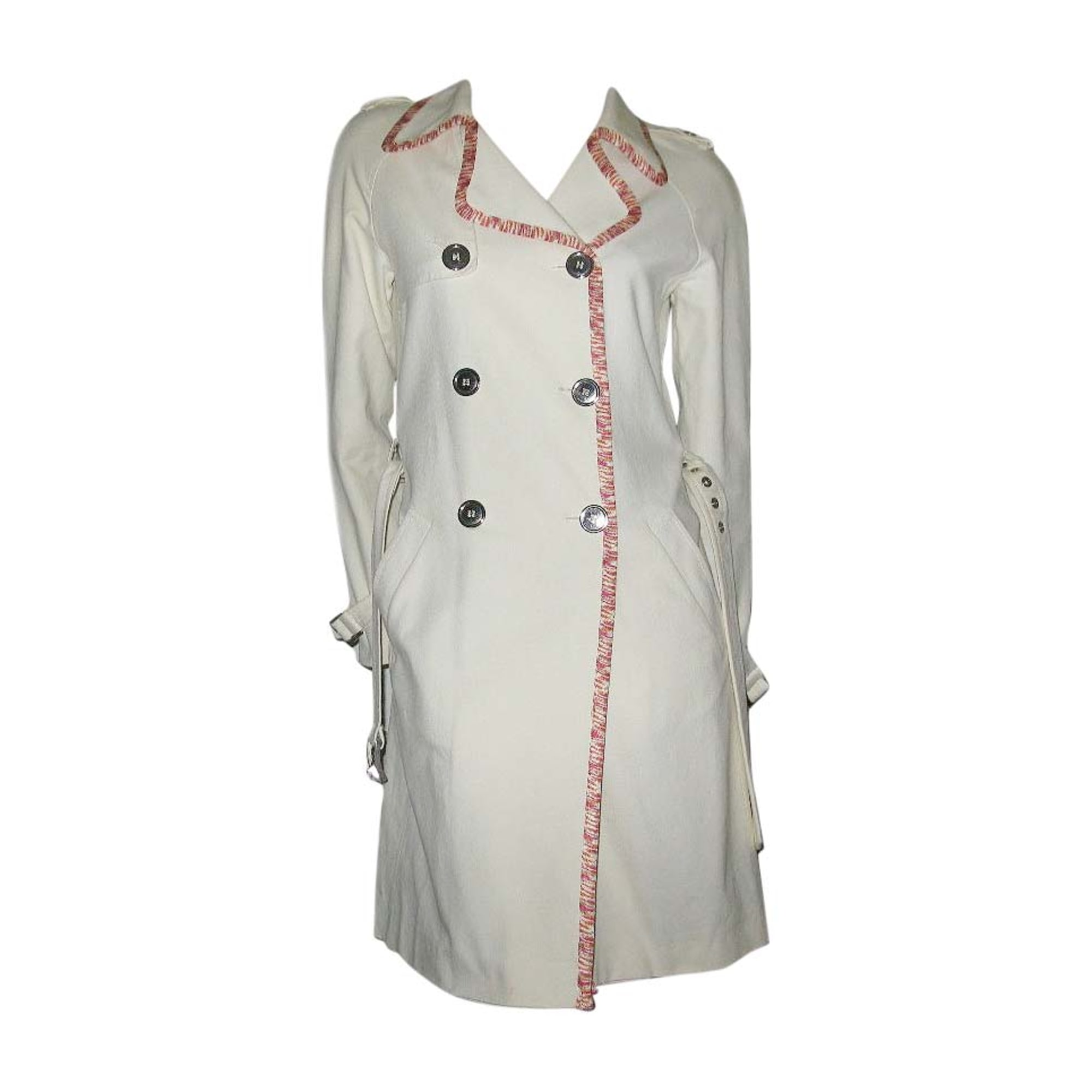 M 38 5626858 blanc trench MISSONI T2 Imperméable qgt6nx