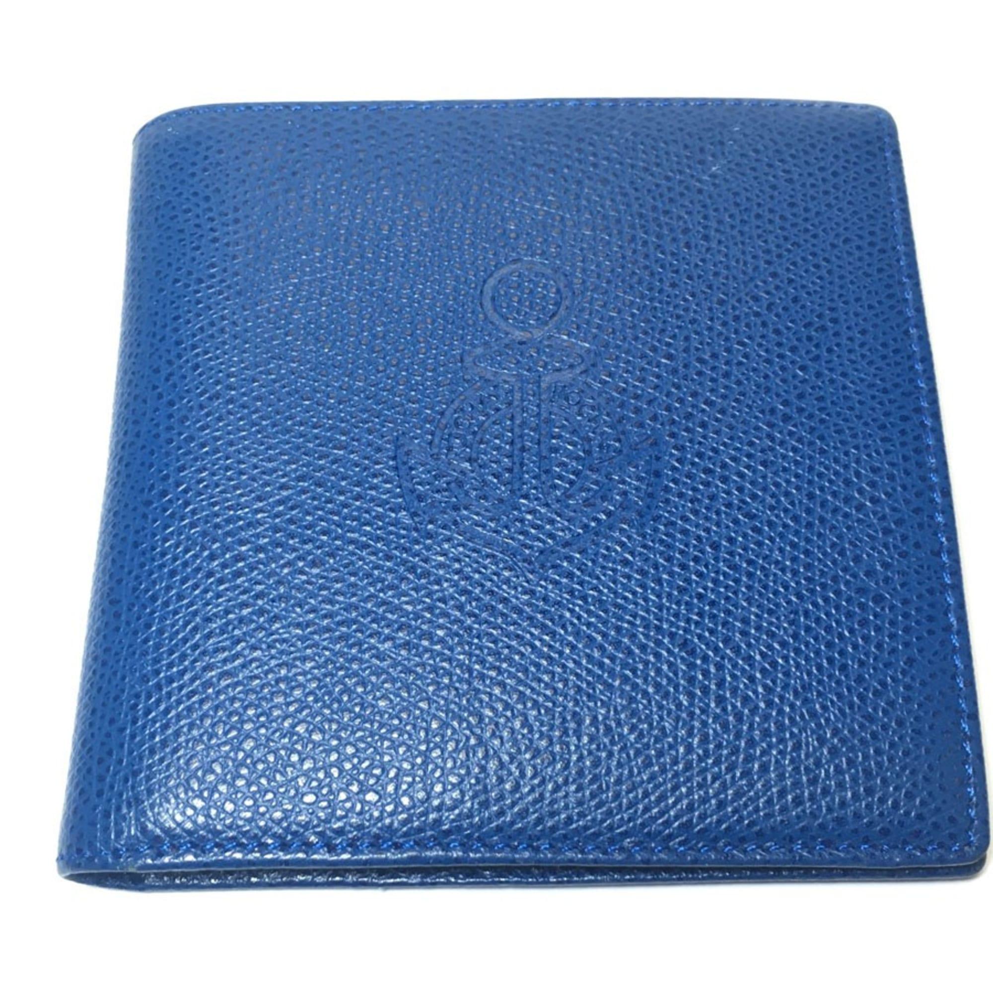 Portefeuille ROCHAS cuir bleu