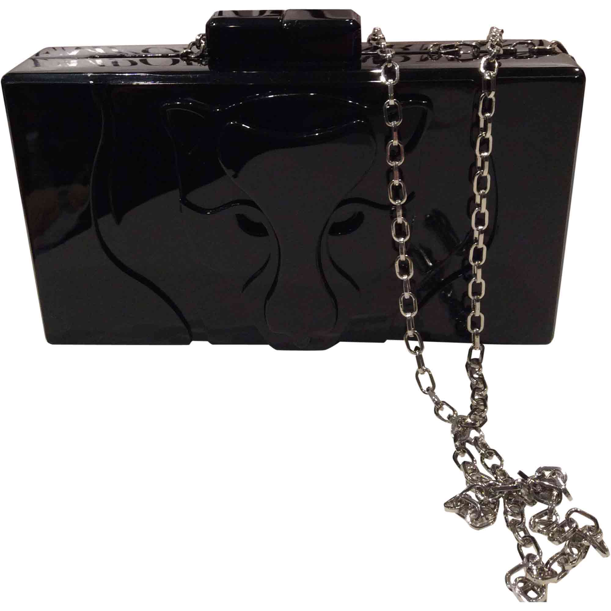 7faad7653b4 Sac en bandoulière en cuir EMPORIO ARMANI noir vendu par Plumie ...