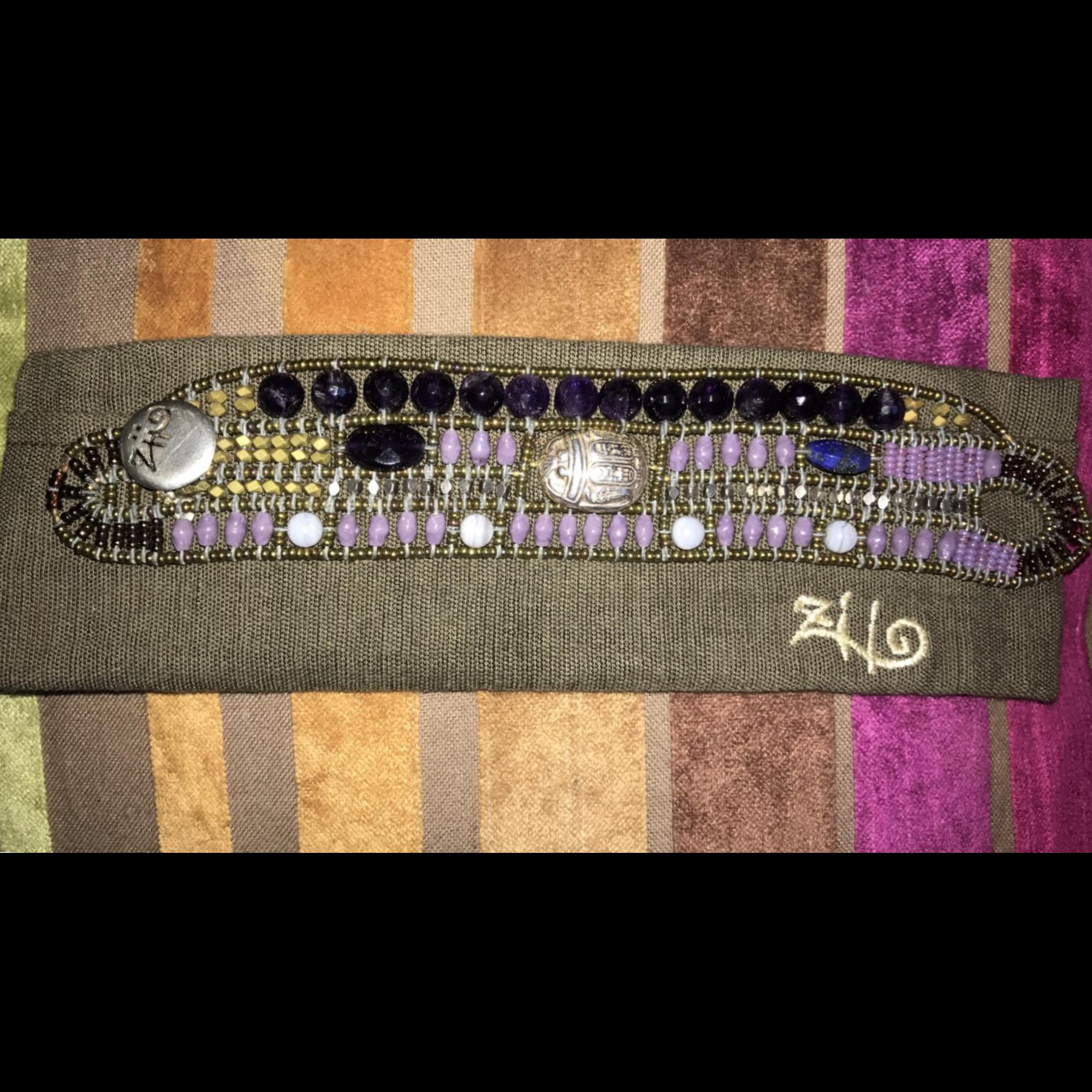 Bracelet ZIIO perle violet