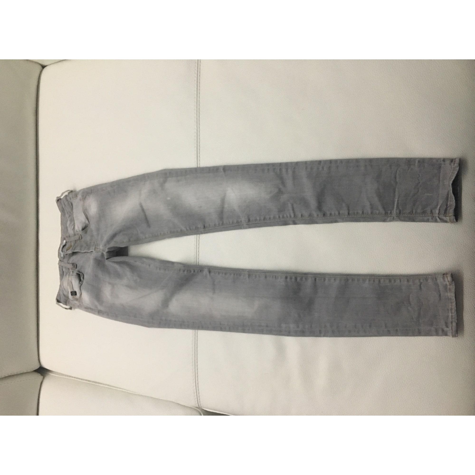 Jean slim LE TEMPS DES CERISES coton gris 13-14 ans