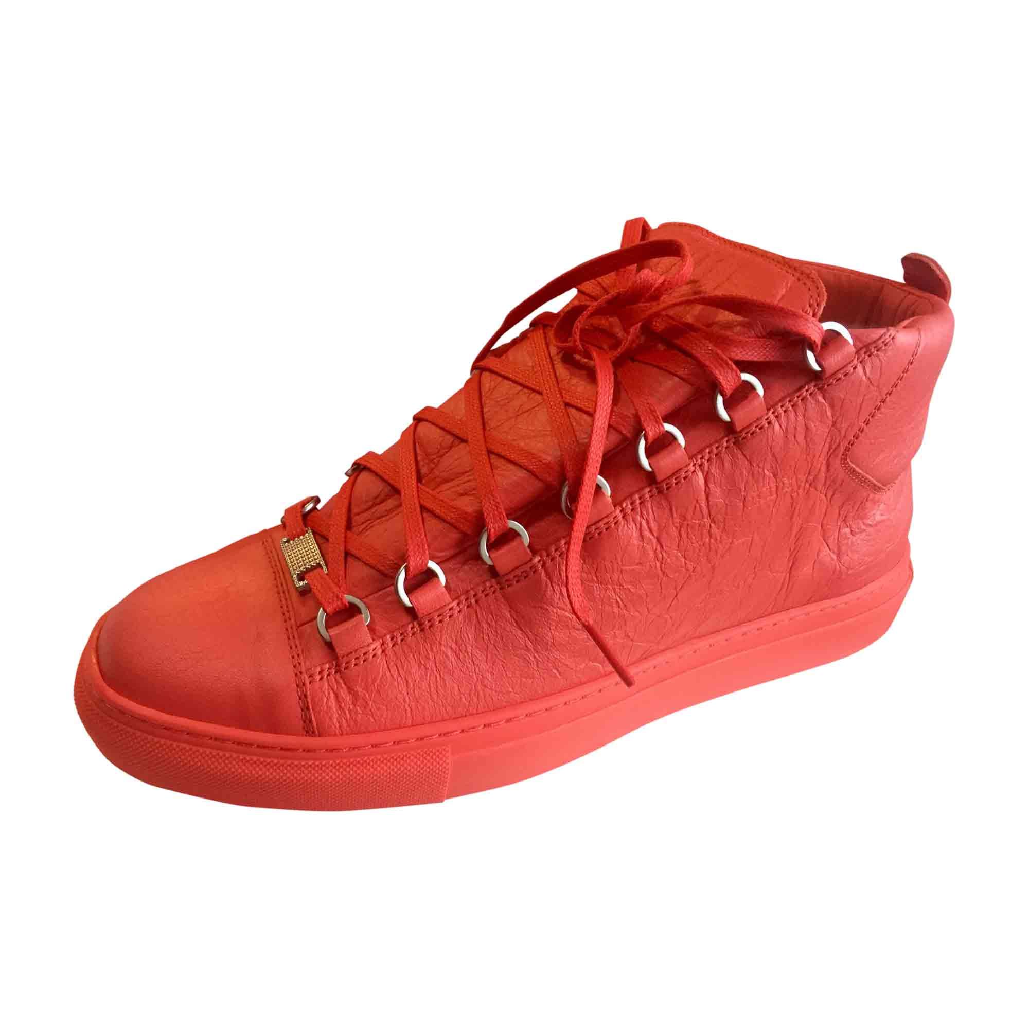 fa4b189e41 Baskets BALENCIAGA 39 rouge vendu par Walidou175448 - 5656839