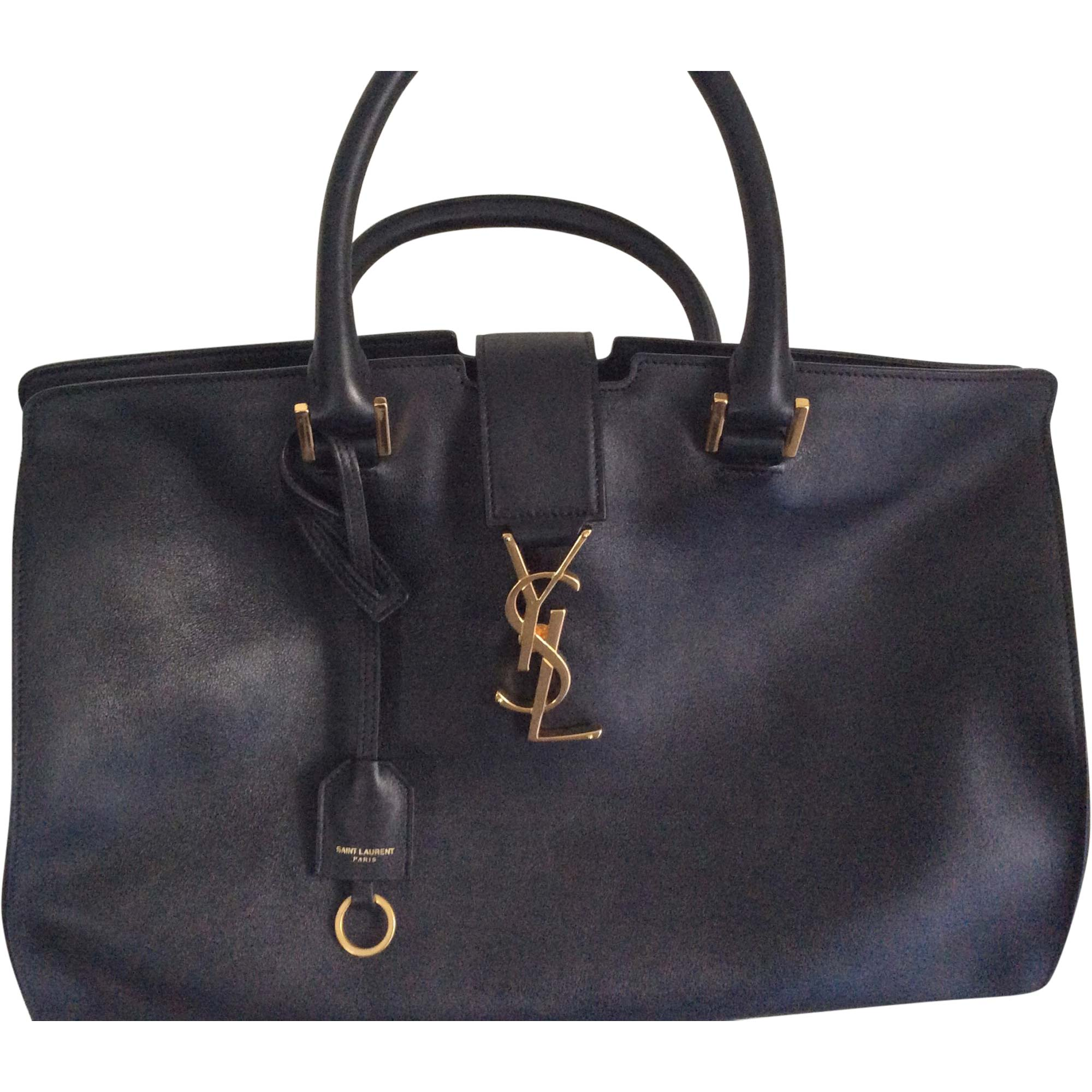 3dca5d6191 Sac à main en cuir YVES SAINT LAURENT Noir ...