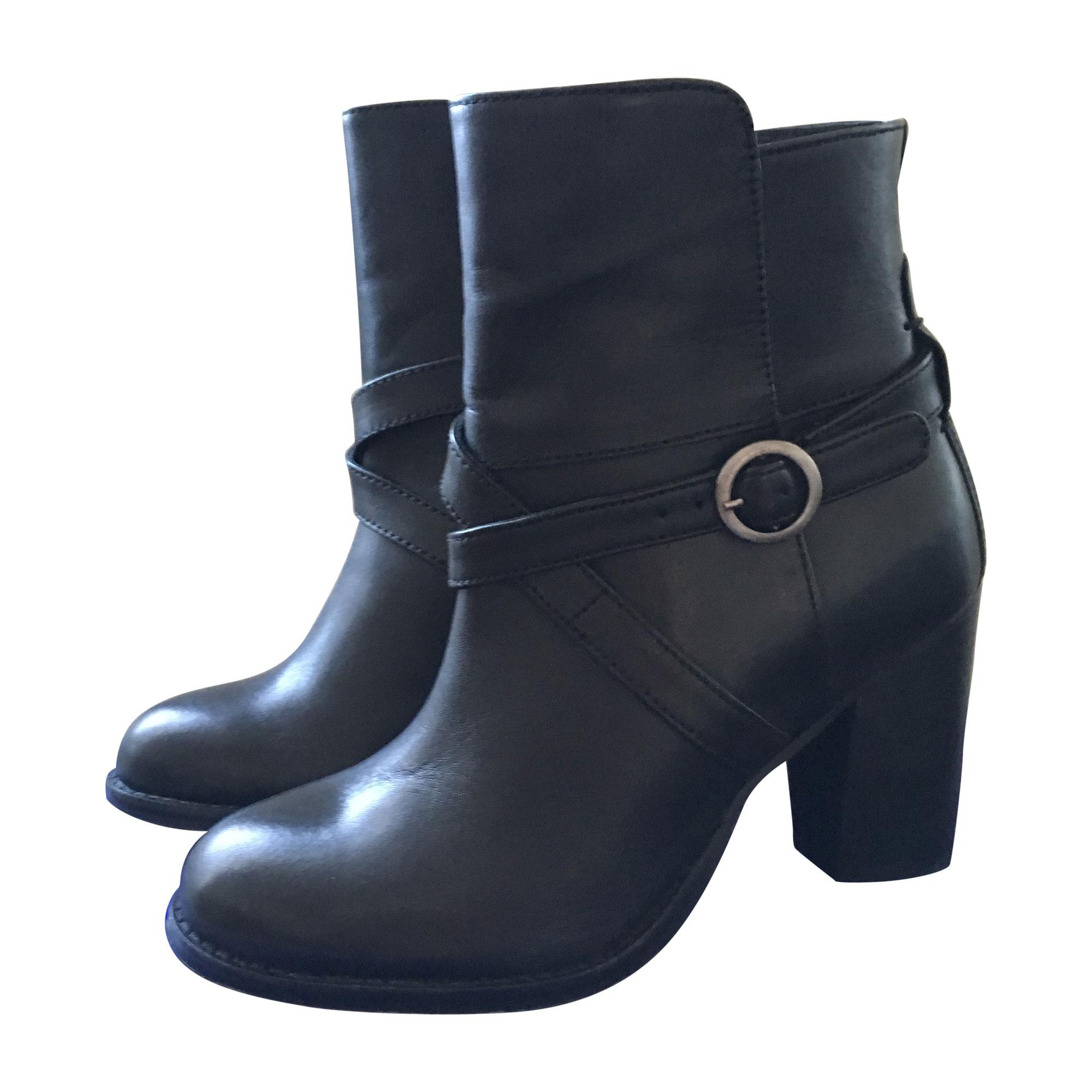 Bottines   low boots à talons ANDRÉ 37 noir - 5699702 5797a3be319