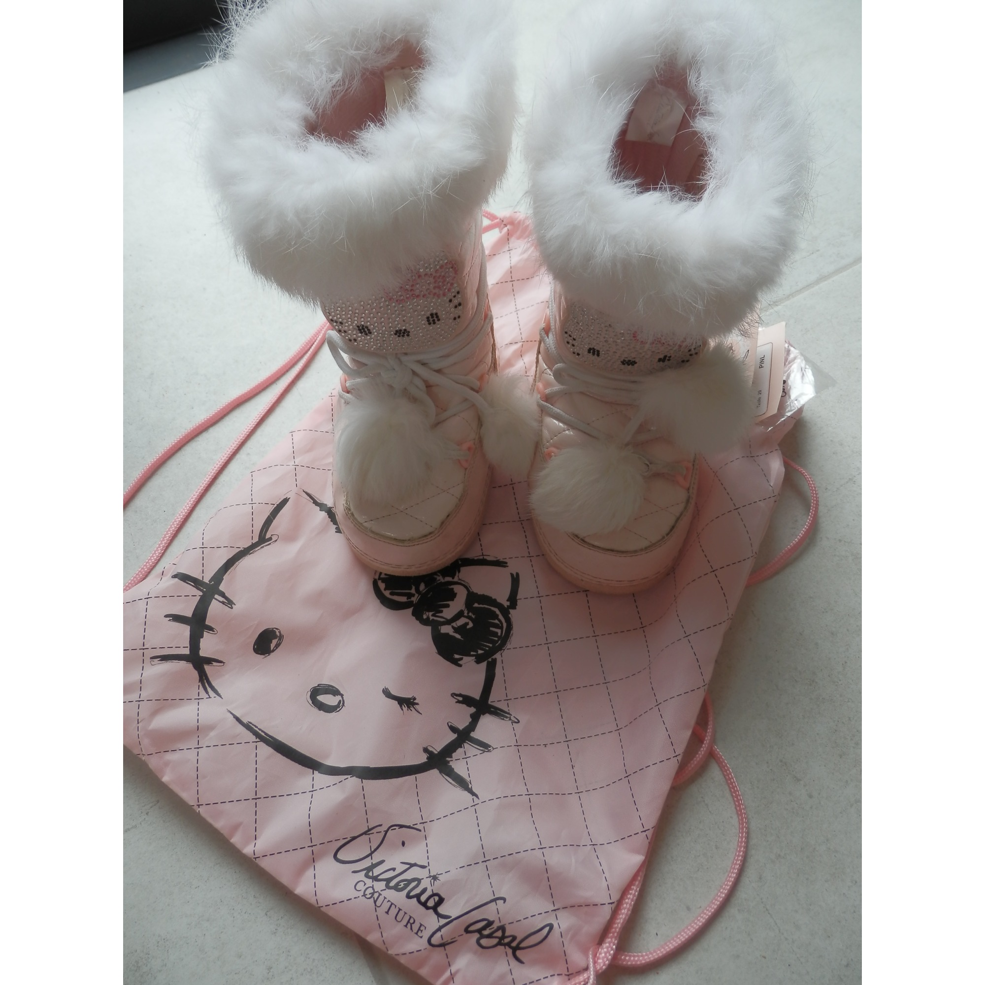 Bottes De Neige Hello Kitty By Victoria Couture Plastique Rose 29