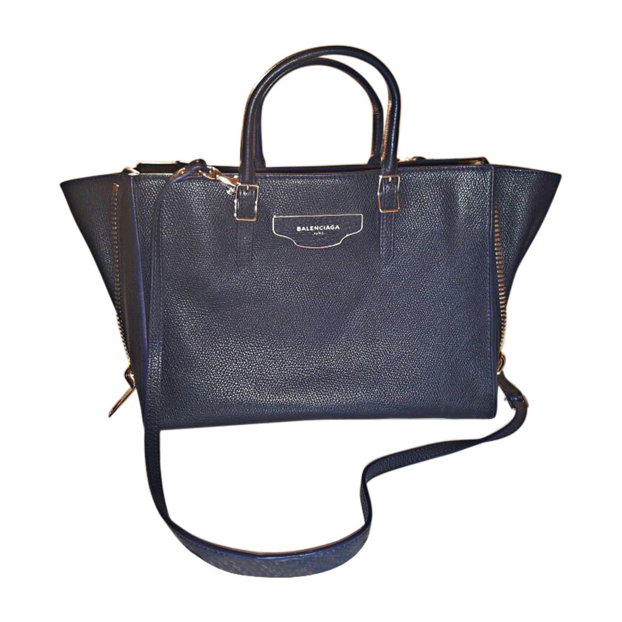 16ab1d06524 Sac à main en cuir BALENCIAGA papier bleu - 5720442