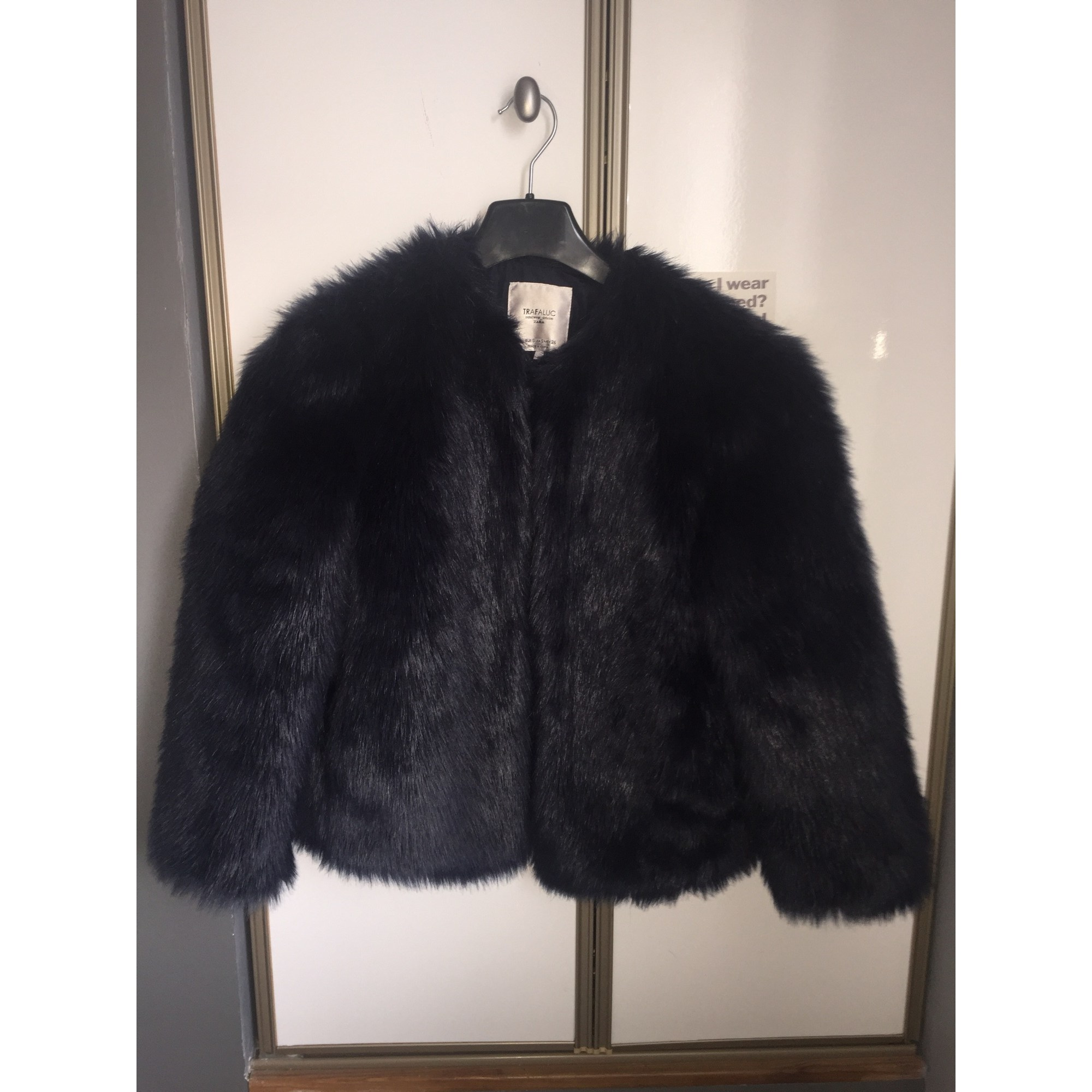 s 36 En Fourrure T1 Lnaolvr Veste Blouson Zara Vendu Bleu Par 4nXIqp