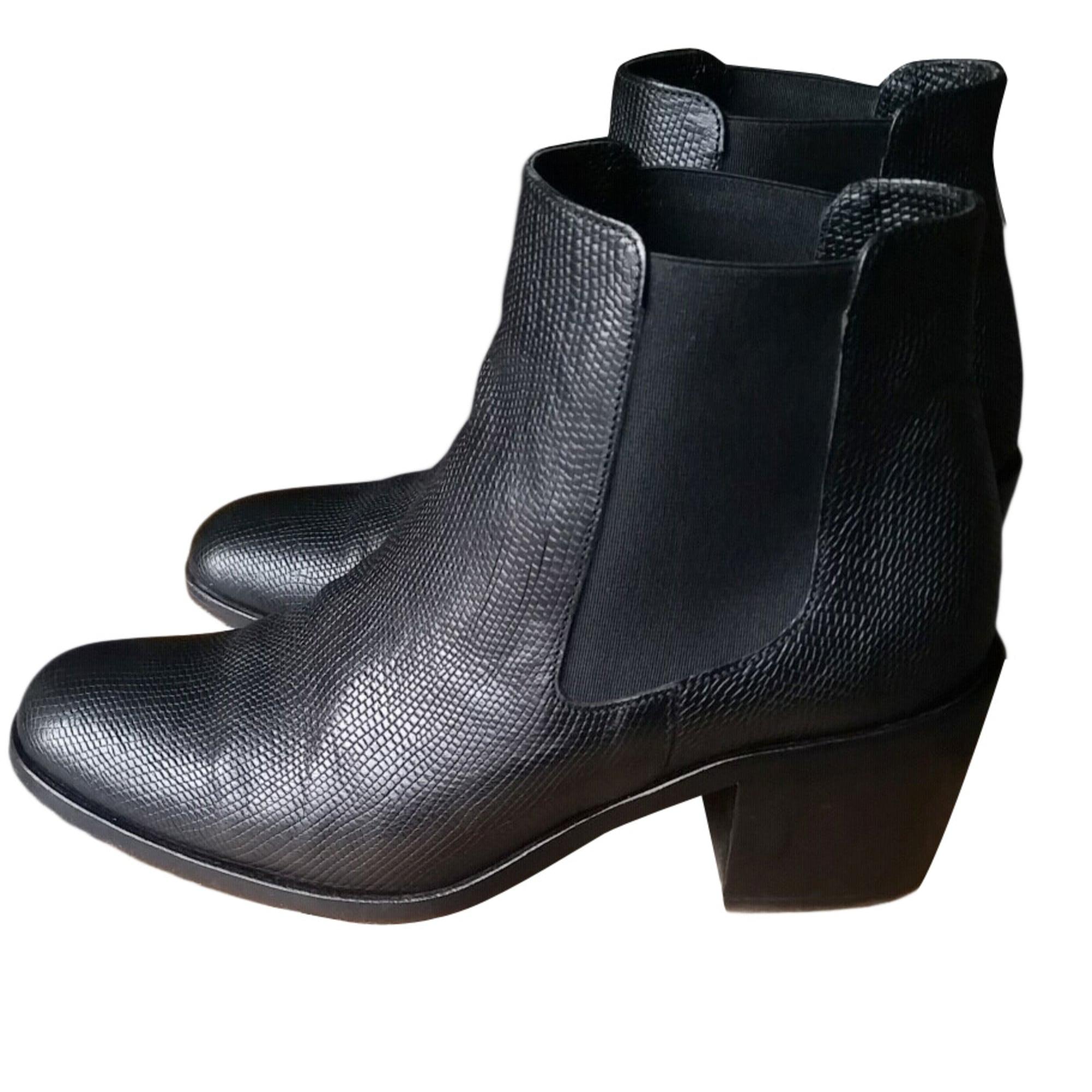 Bottines & low boots à talons DESIGUAL cuir noir 37 7dLY7uI