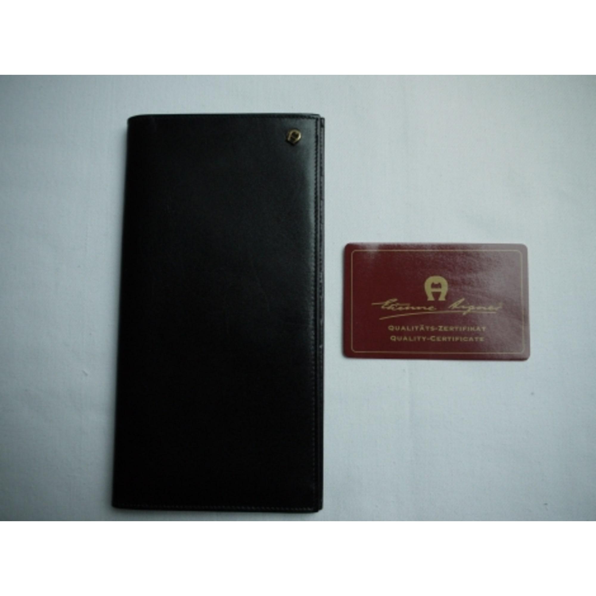 Porte-cartes ETIENNE AIGNER cuir noir