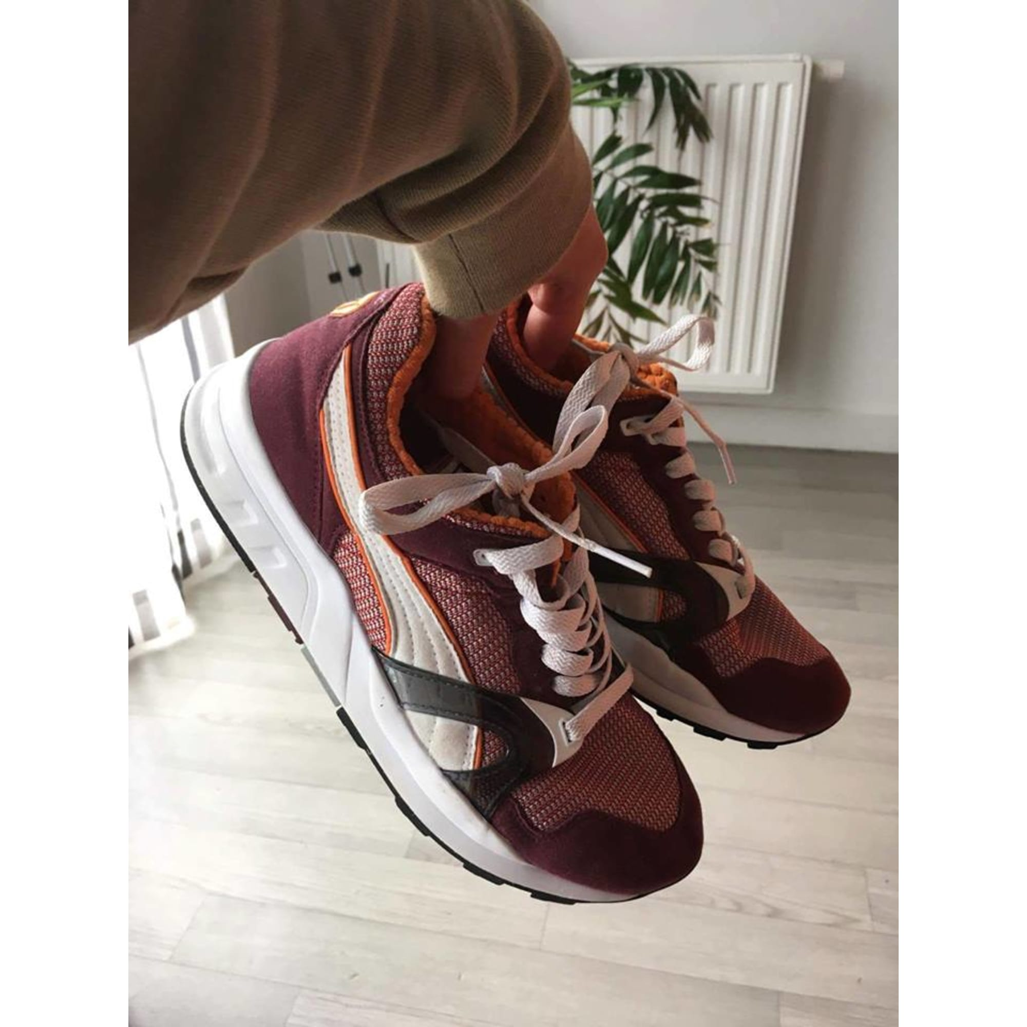 regard détaillé 76961 fbc2c Baskets PUMA TRINOMIC 40 rouge/bordeaux/orange ...