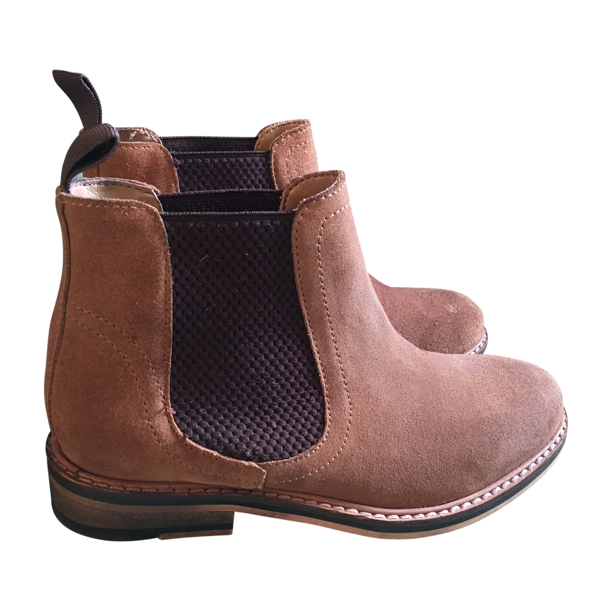 Bottines & low boots plates ASOS Marron