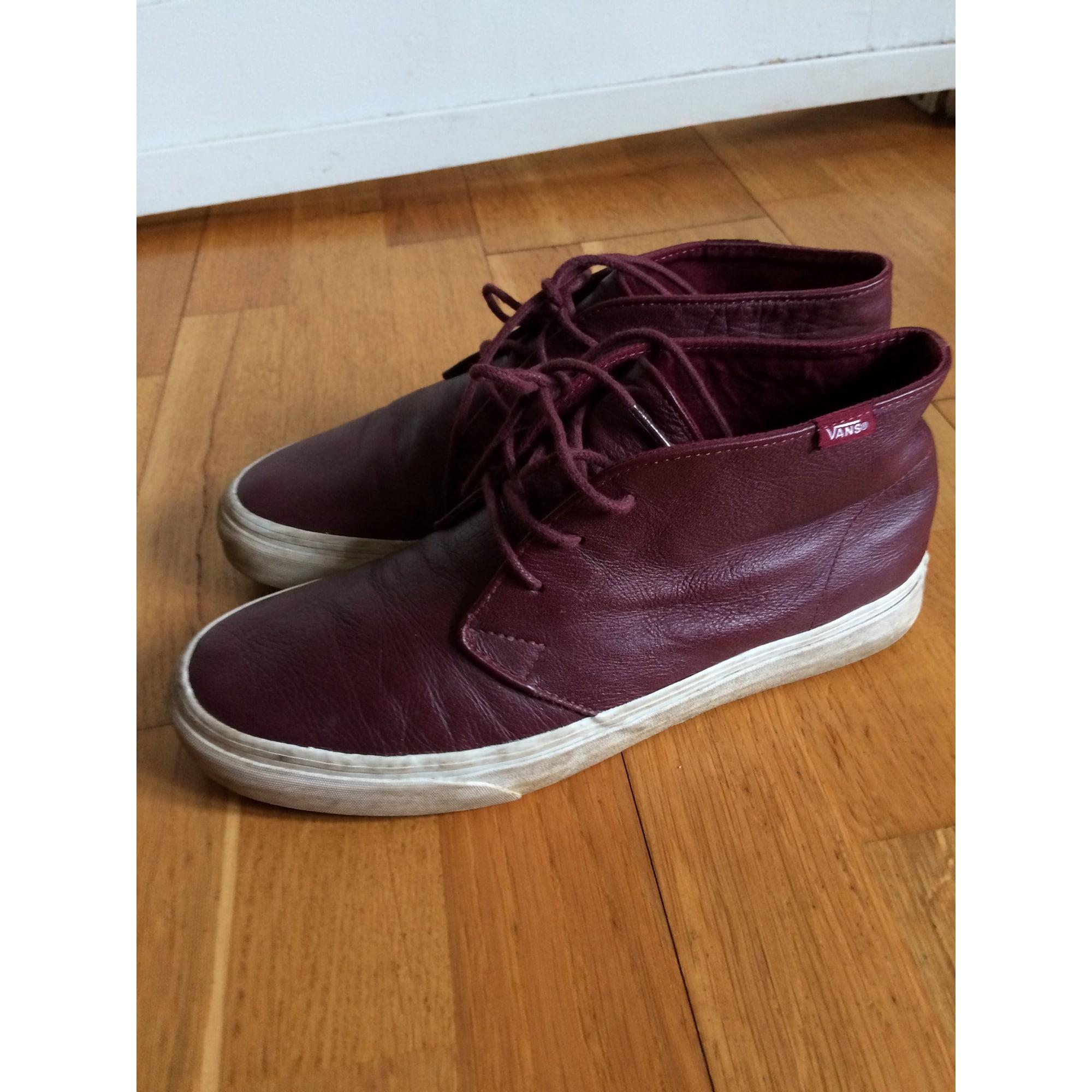 chaussures vans rouge bordaux