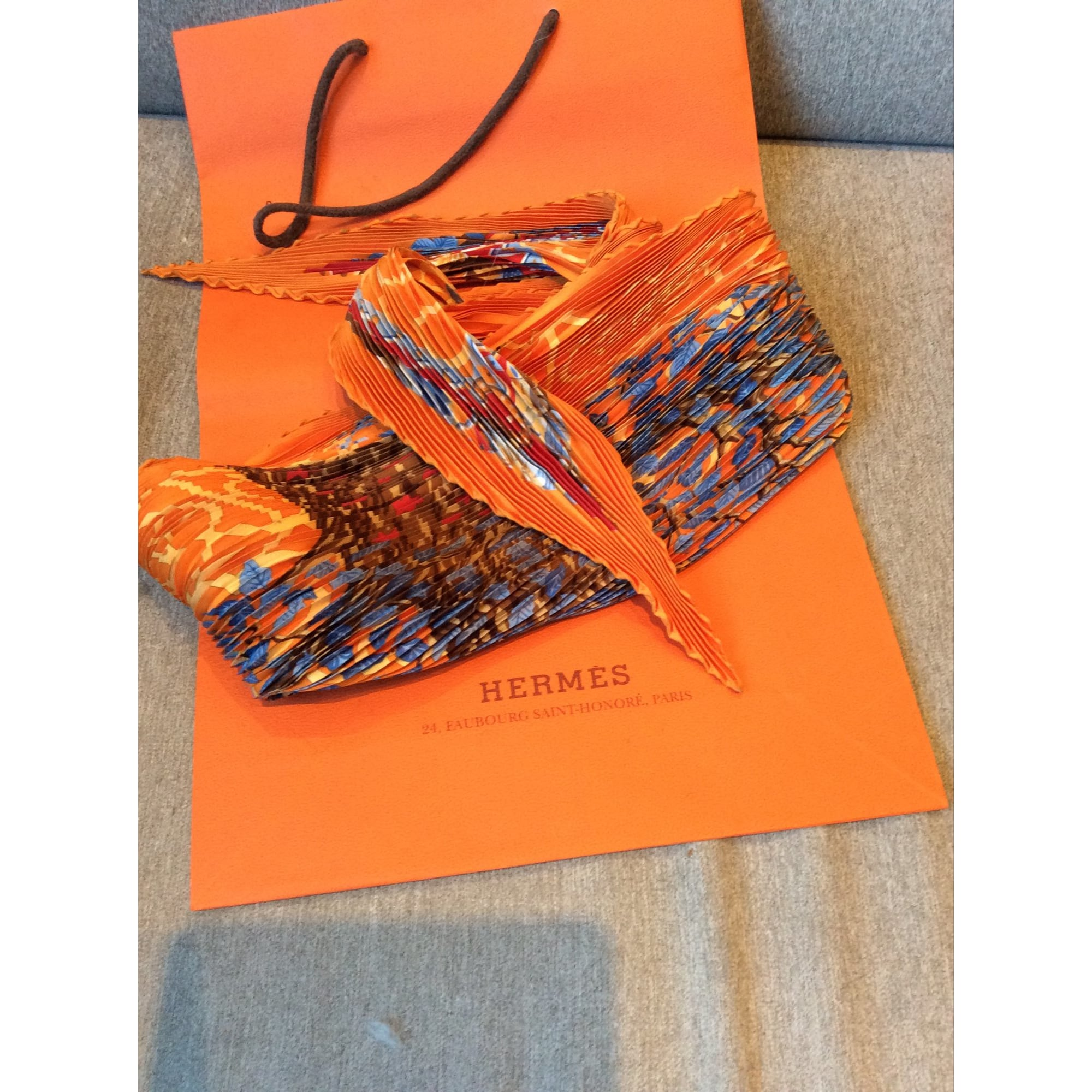 Foulard HERMÈS orange - 5813963 753a023db8a