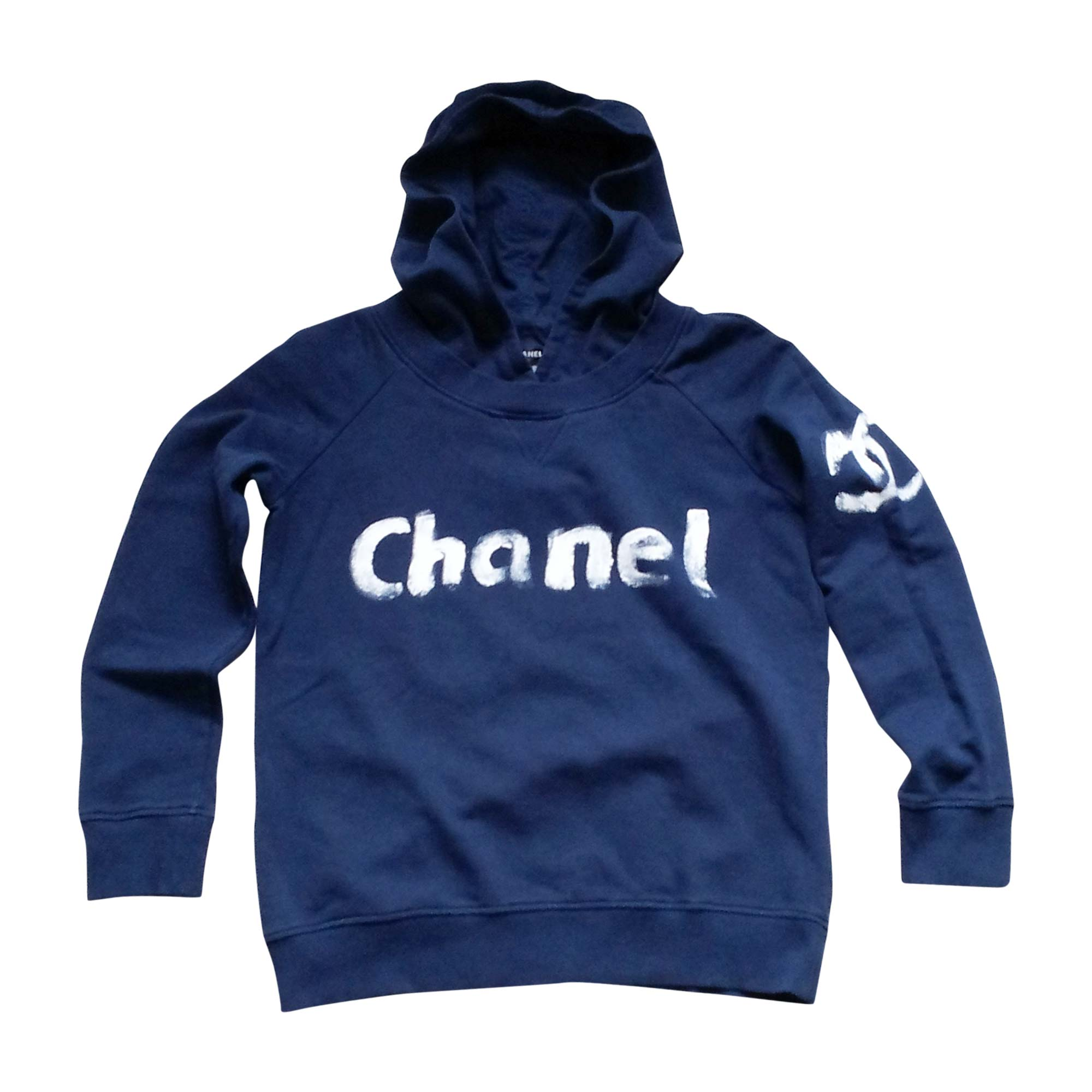 da2dd7c1dda5 Sweat CHANEL Bleu, bleu marine, bleu turquoise