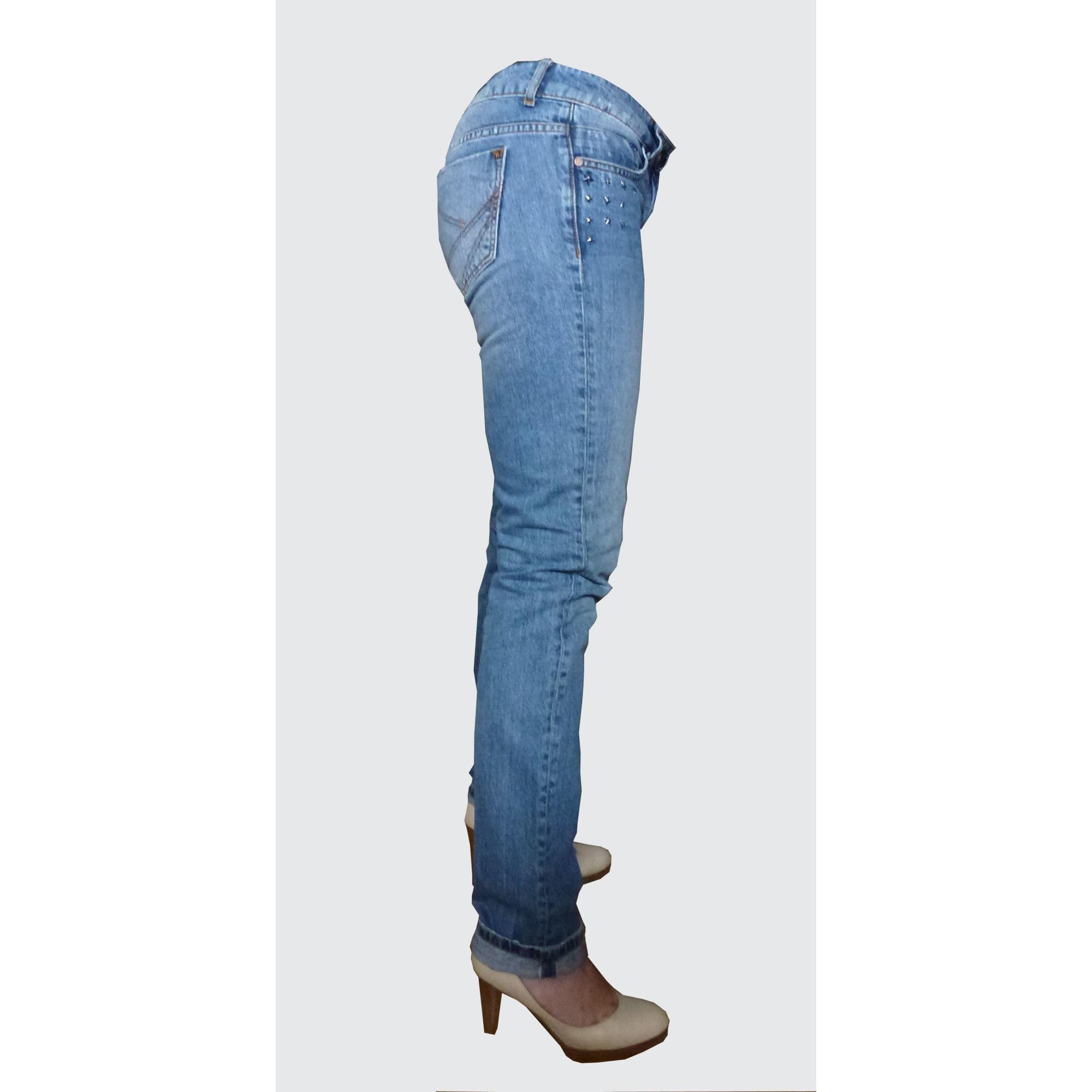 Jeans slim KOOKAI Bleu, bleu marine, bleu turquoise