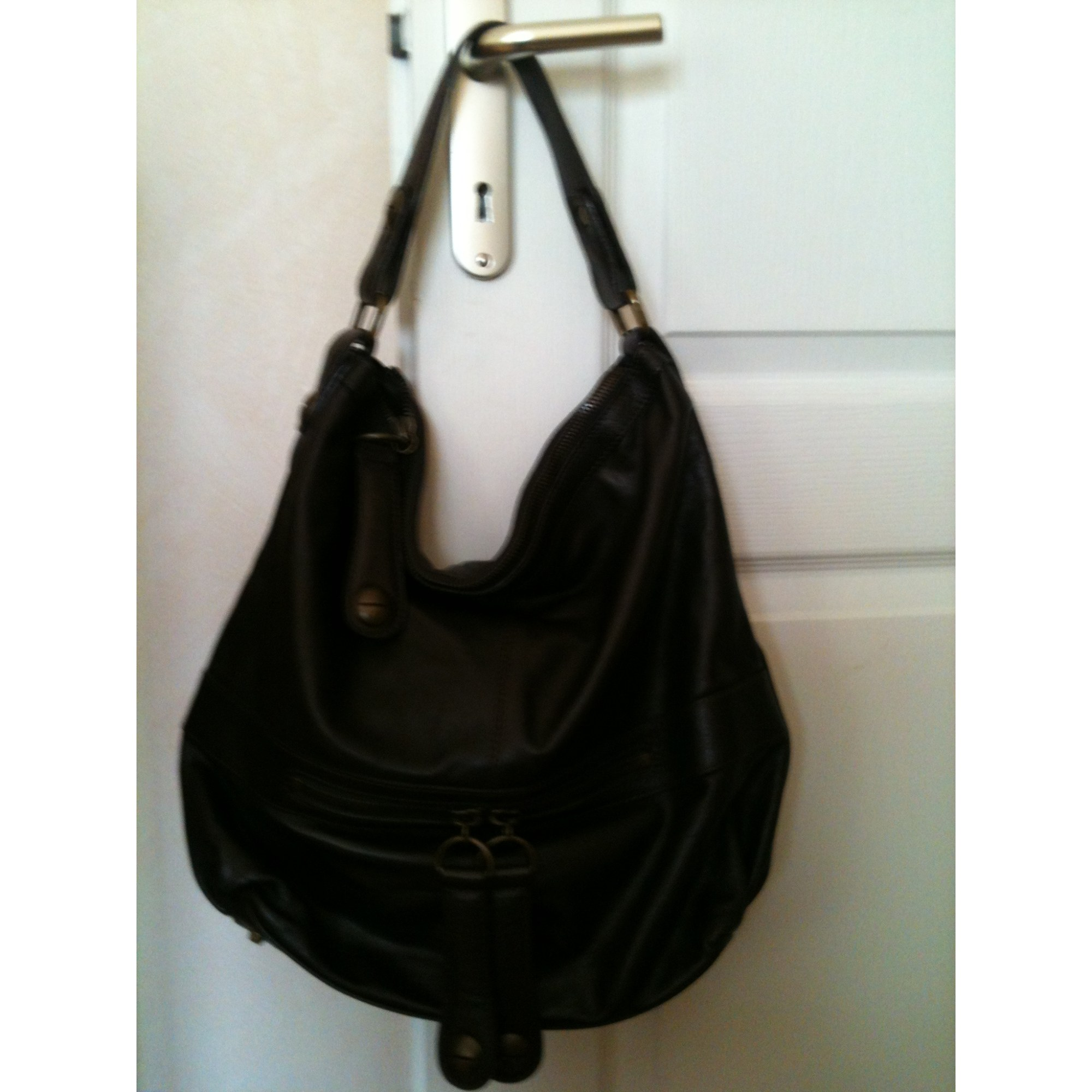 Leather Oversize Bag GERARD DAREL Brown