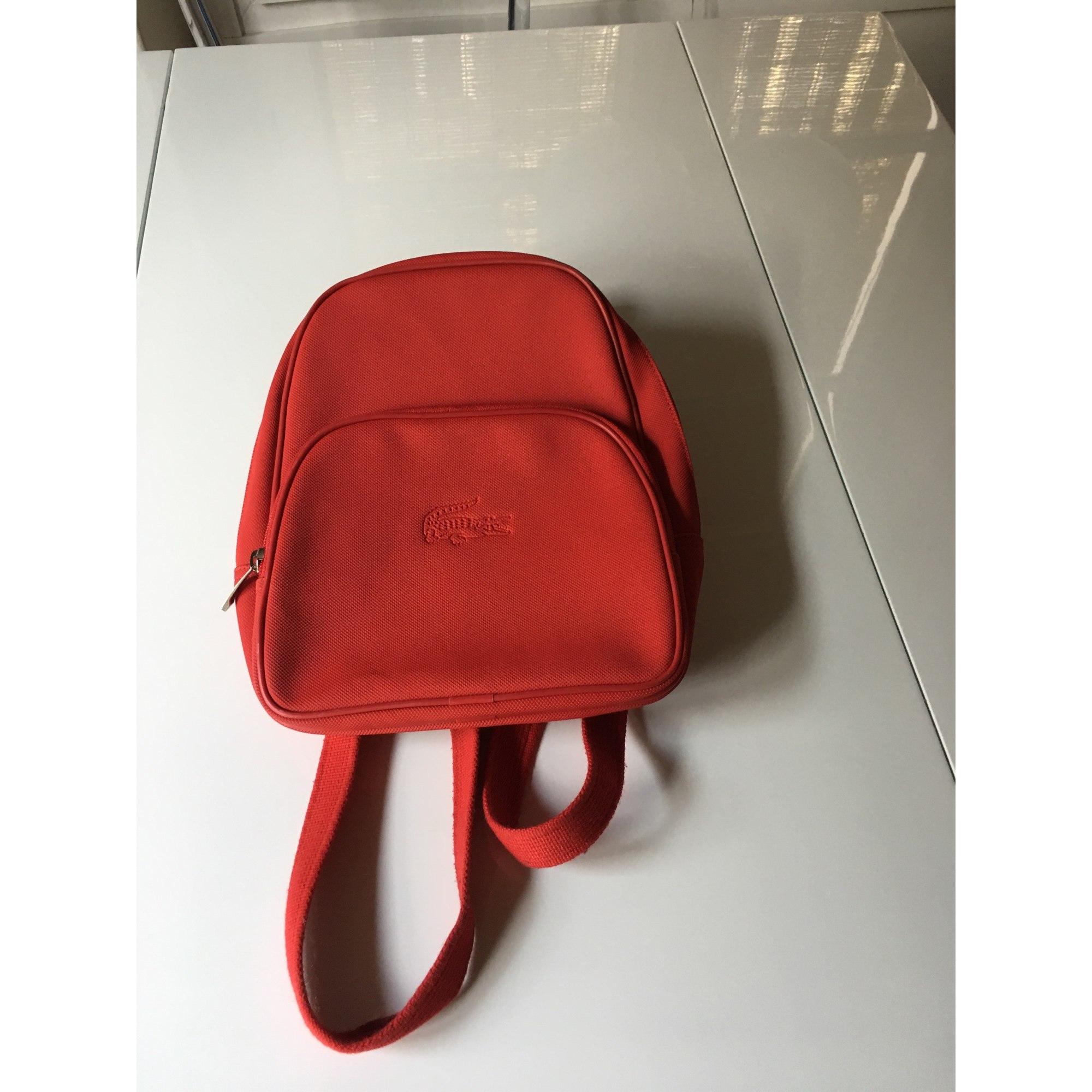 48c5833c03 Sac à dos LACOSTE rouge vendu par Nymo - 5865995