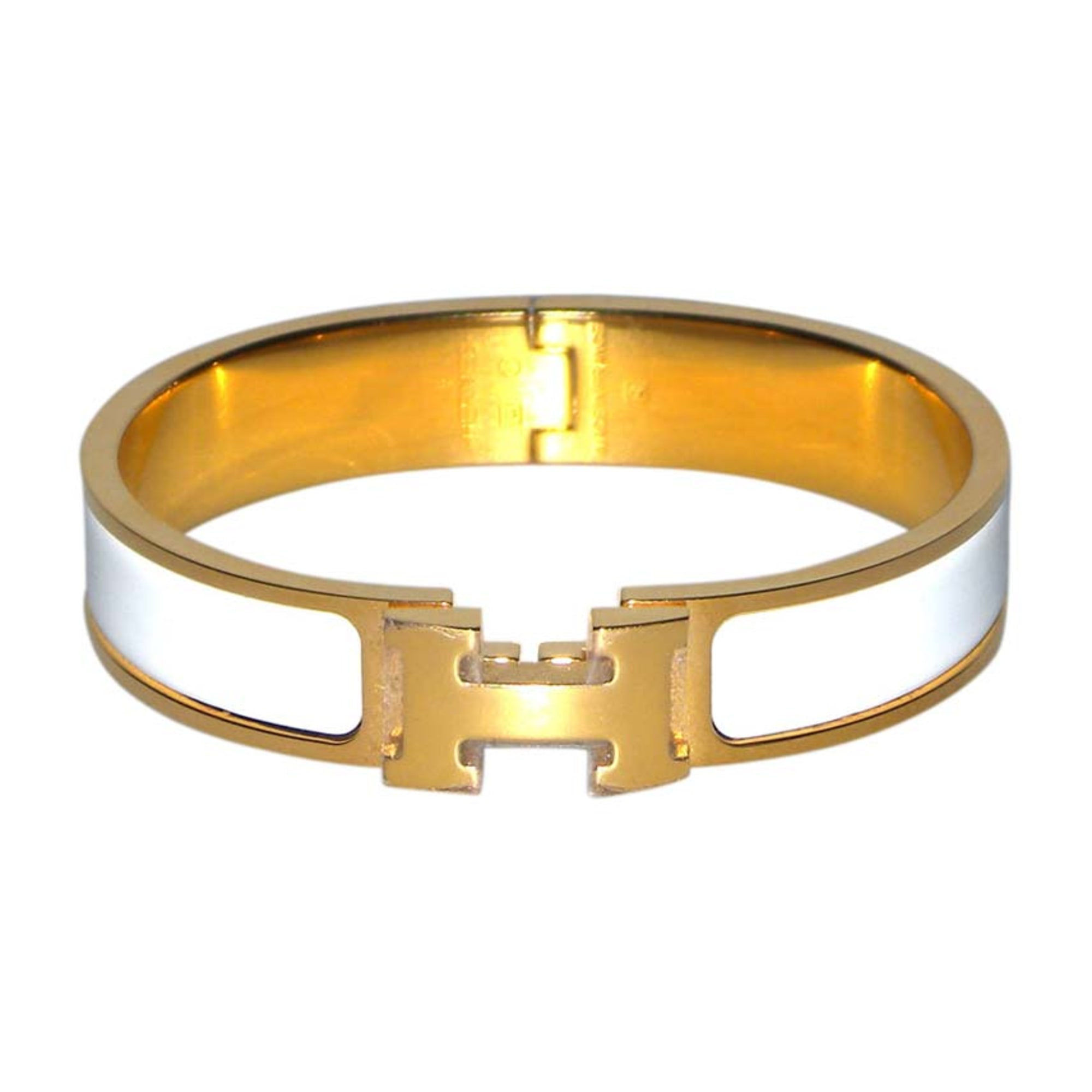 fd30cdfeafa7 Bracelet HERMÈS clic h blanc vendu par Sandy28400 - 5867103