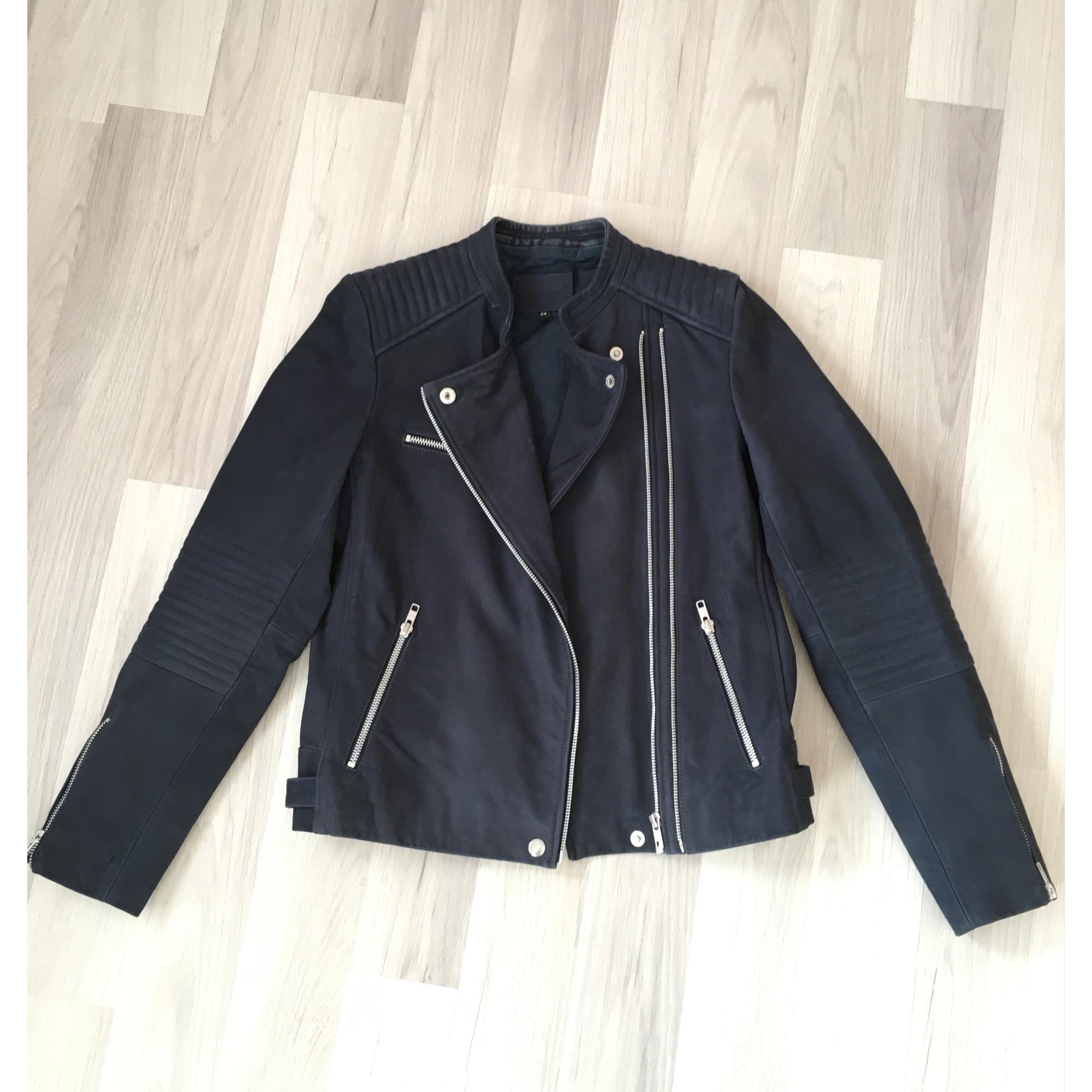 Veste en cuir CAROLL 36 (S, T1) bleu vendu par Olesinia - 5867778 90a51d7f3a1