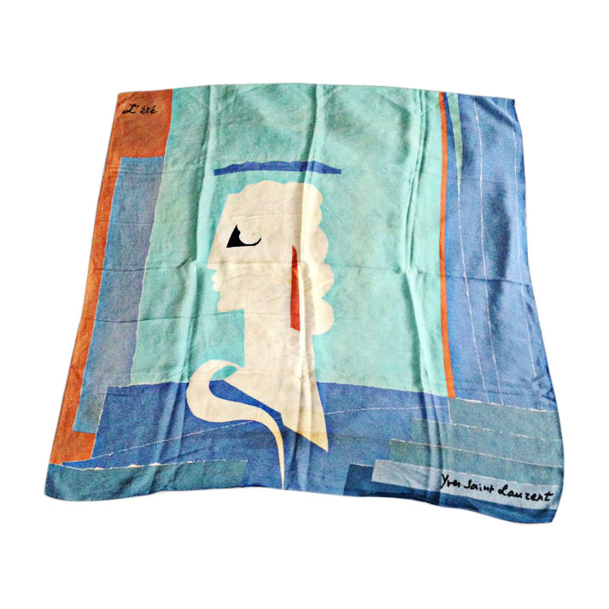 f9d350266ad5 Foulard YVES SAINT LAURENT bleu vendu par Haitaotehui - 5906071