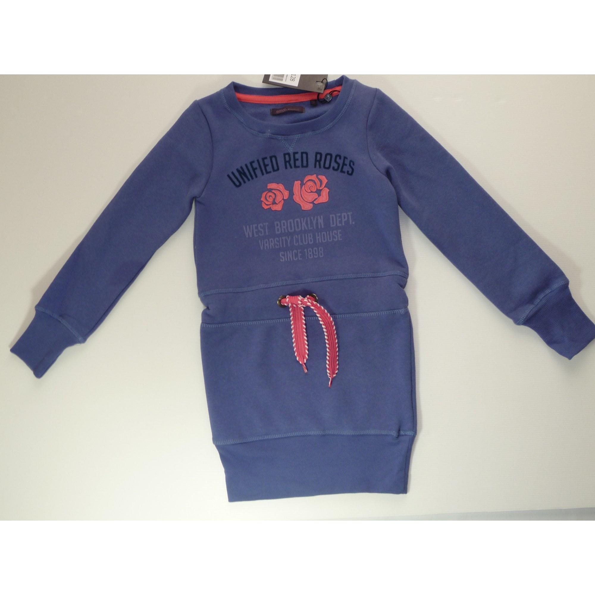 Robe EMOI BY EMONITE coton bleu 7-8 ans