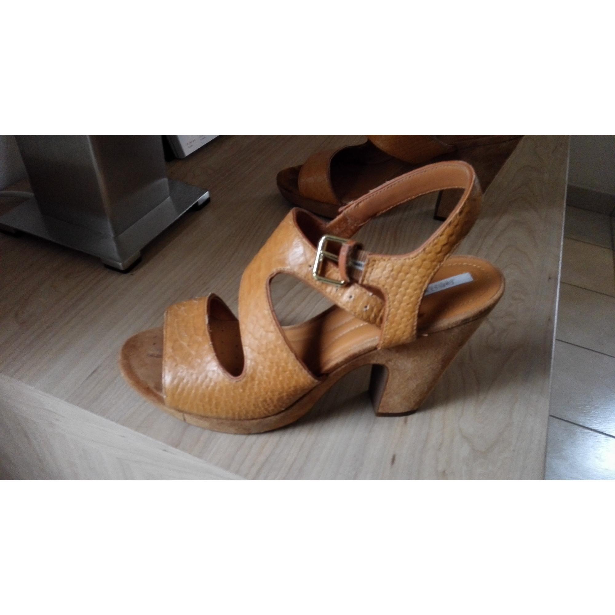 Sandales compensées GEOX 40 beige - 5935768 4aeee998ee12