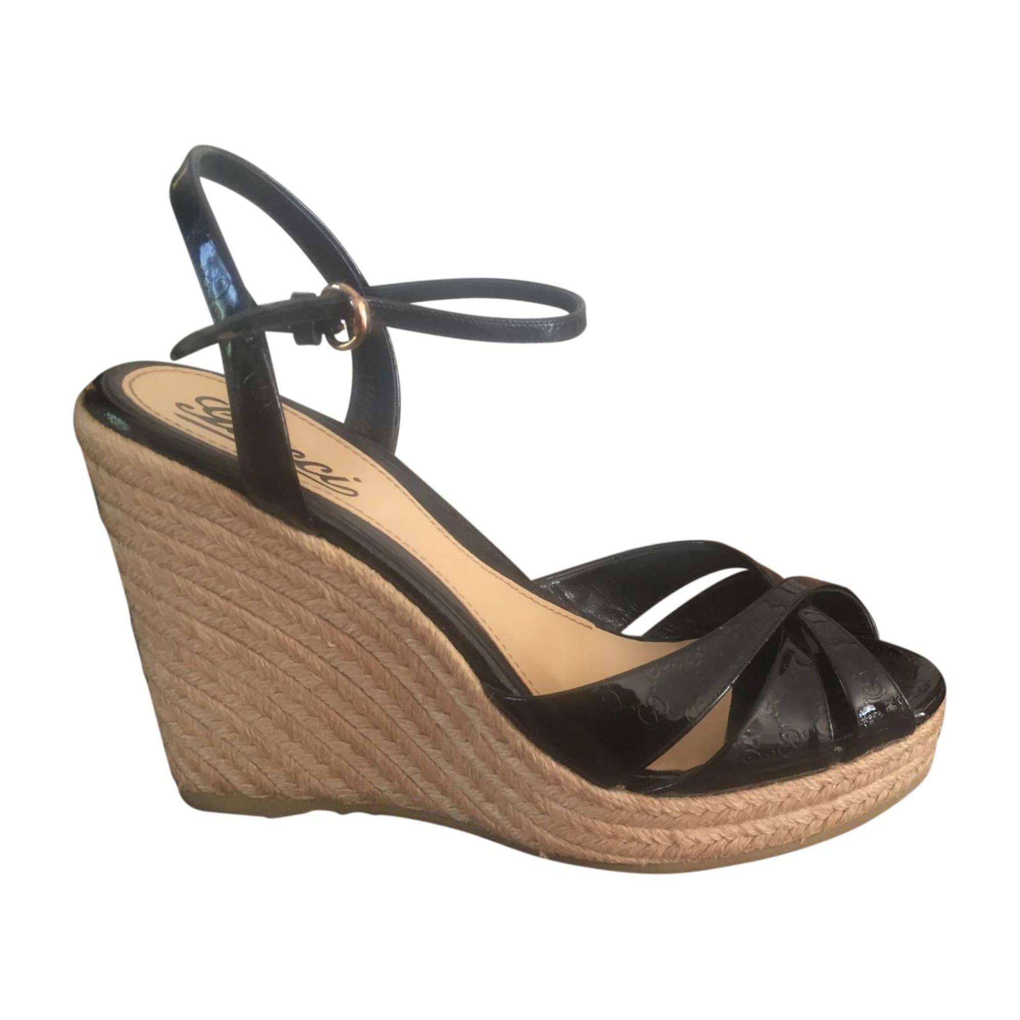 b5cfa0764f3a Sandales compensées GUCCI 38,5 noir vendu par Sabrina49779 - 5954830