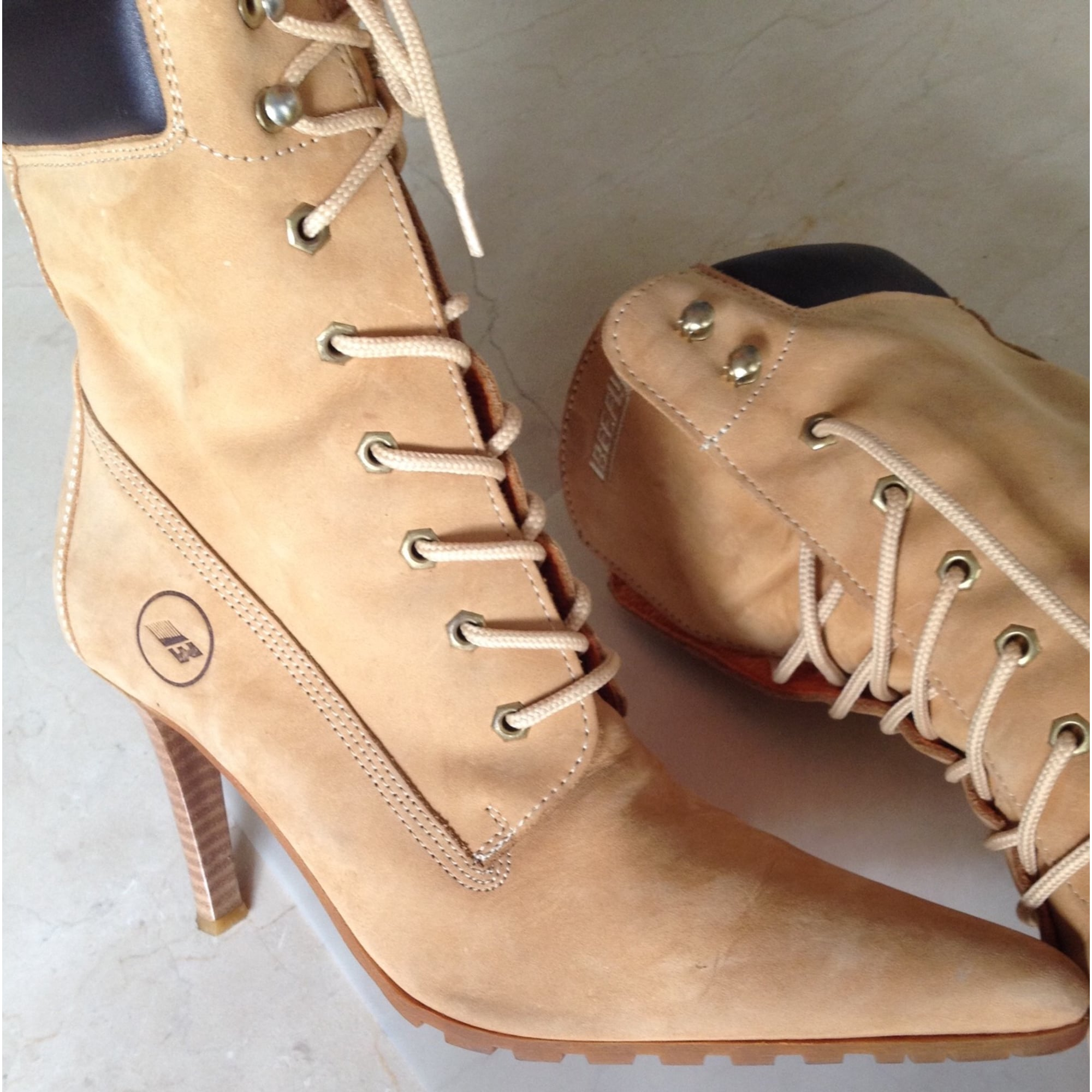 Bottines & low boots à talons BEE FLY Beige, camel