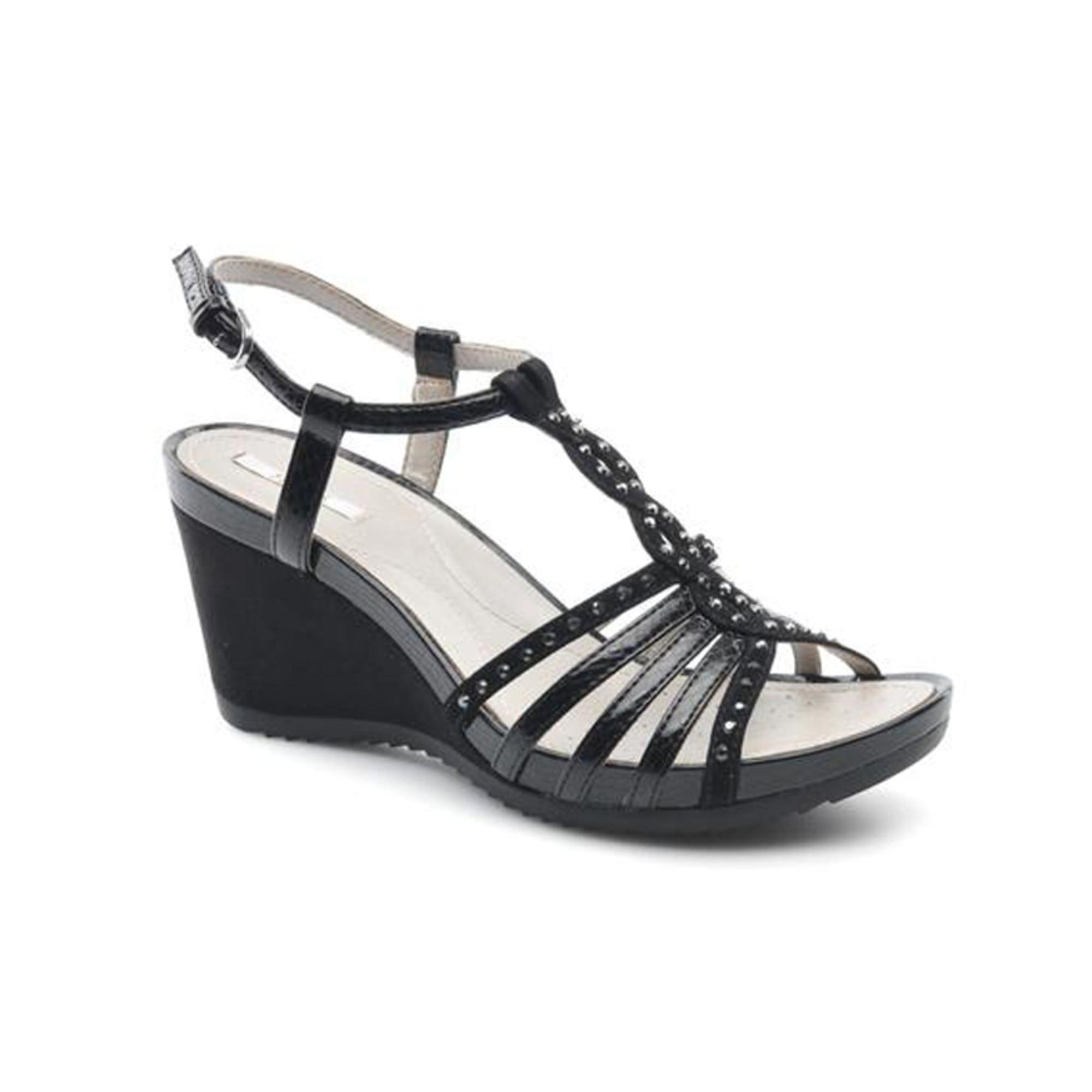 chaussures compensées geox jean